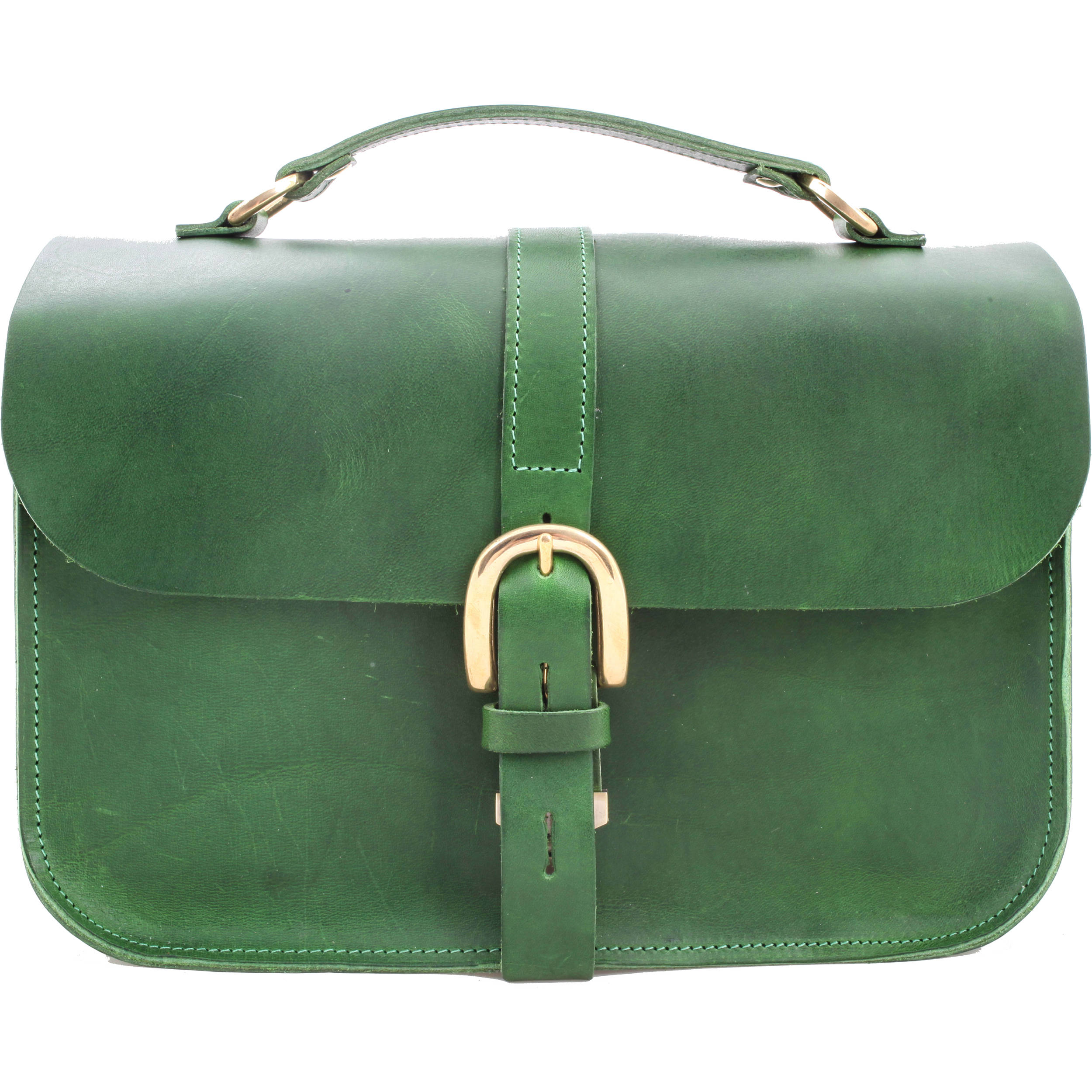 4854a7a7e455 Figbags The Lincoln Leather Bag (Green) 7 B H Photo Video
