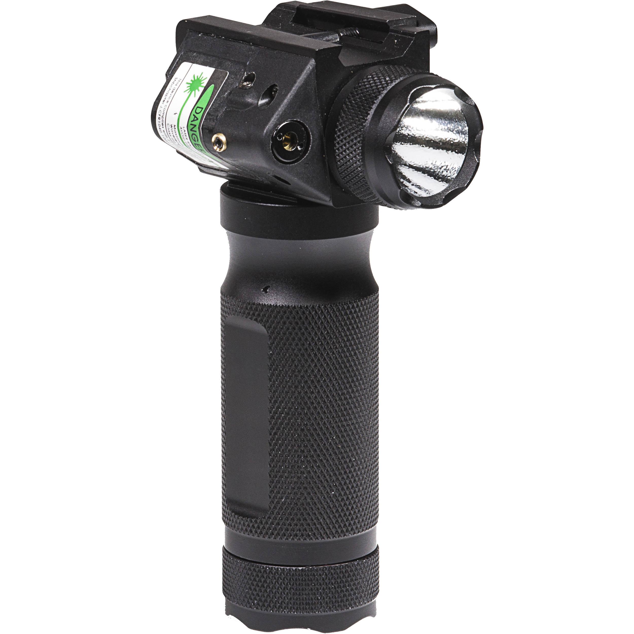 Firefield Heavy Duty Green Laser Flashlight Foregrip Ff35003 Bh Theus Pointer Matte Black