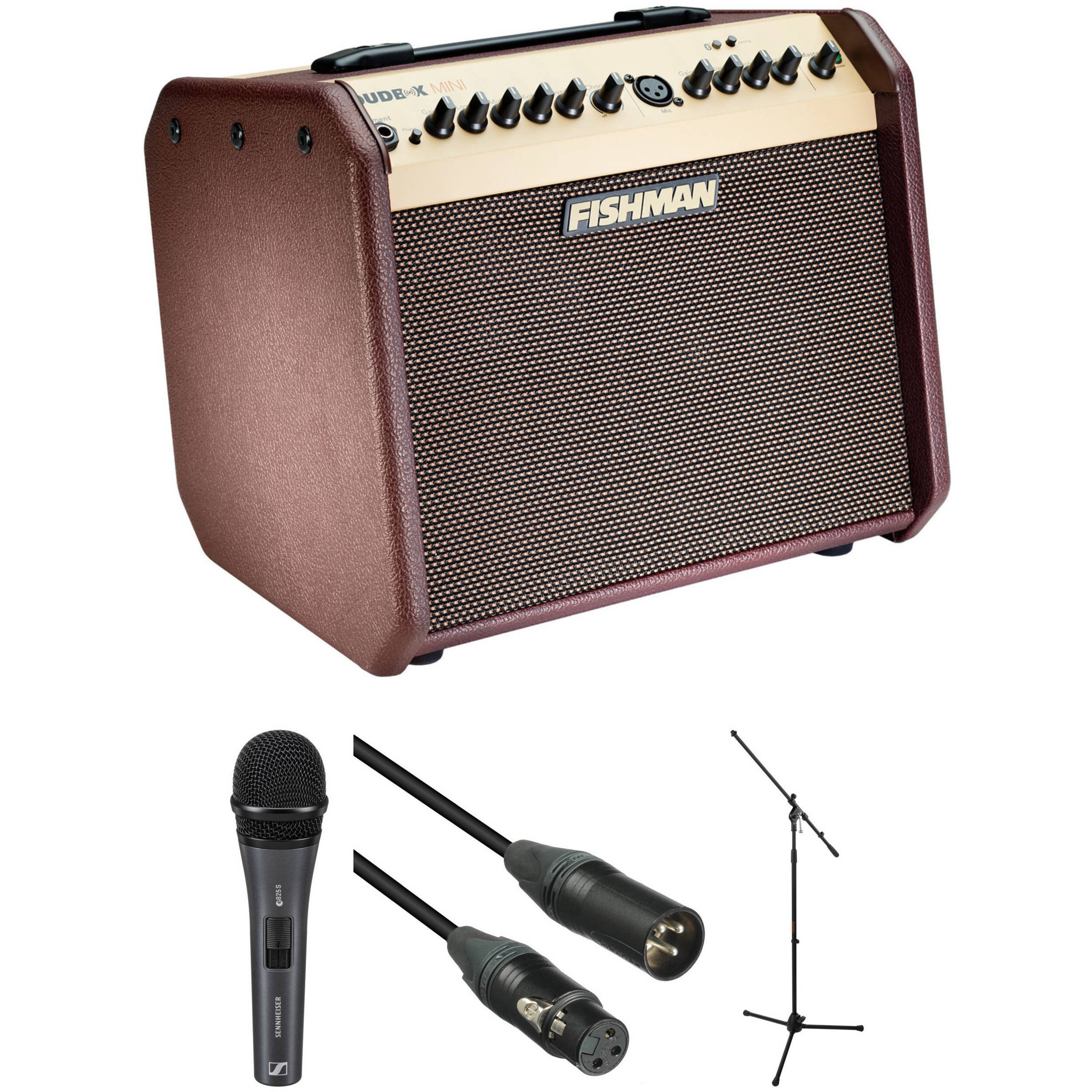 fishman loudbox mini bluetooth amplifier kit with sennheiser. Black Bedroom Furniture Sets. Home Design Ideas