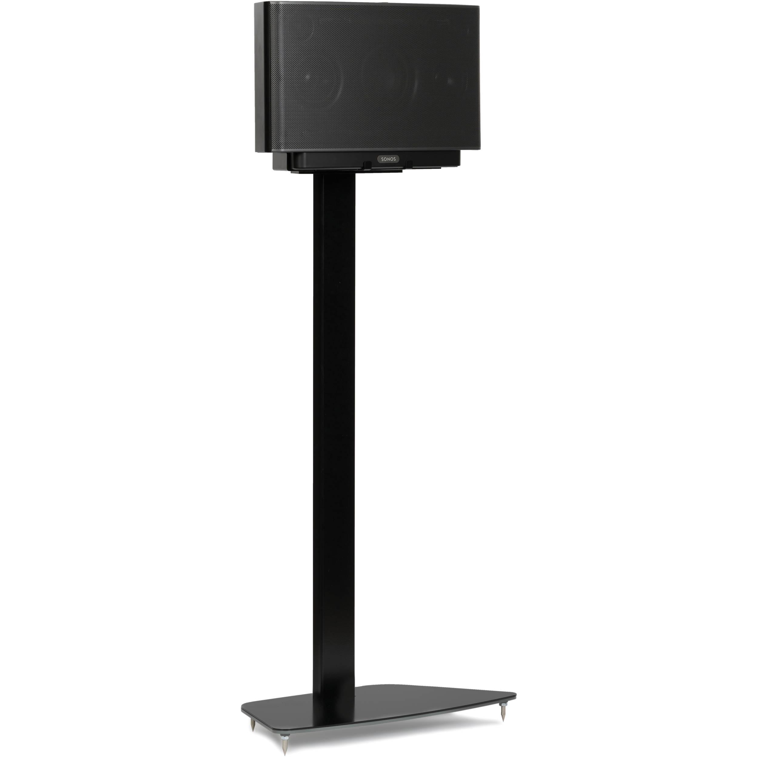 flexson floorstand for sonos play 5 black flxp5fs1021 b h. Black Bedroom Furniture Sets. Home Design Ideas