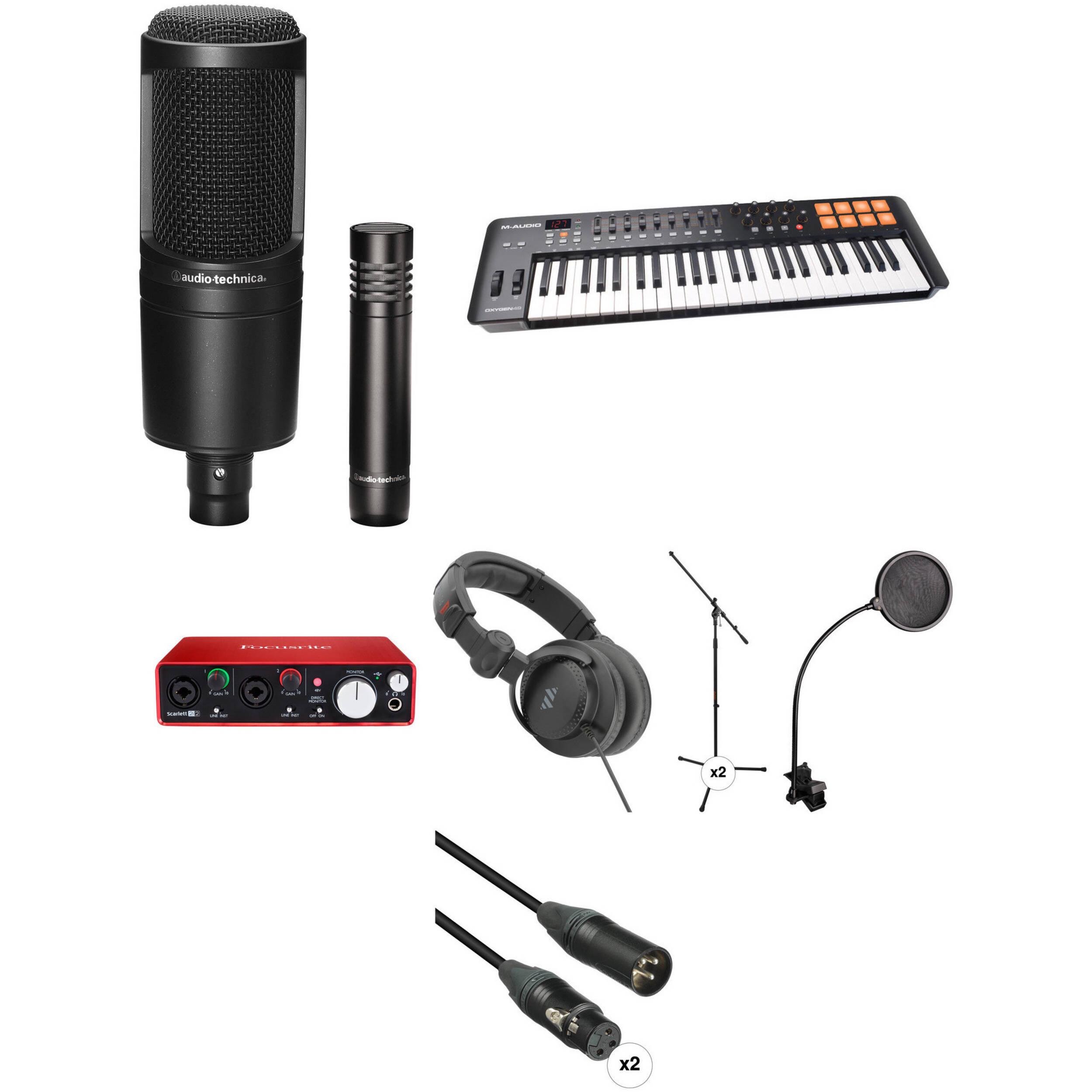 focusrite musician 39 s home recording starter kit b h photo video. Black Bedroom Furniture Sets. Home Design Ideas