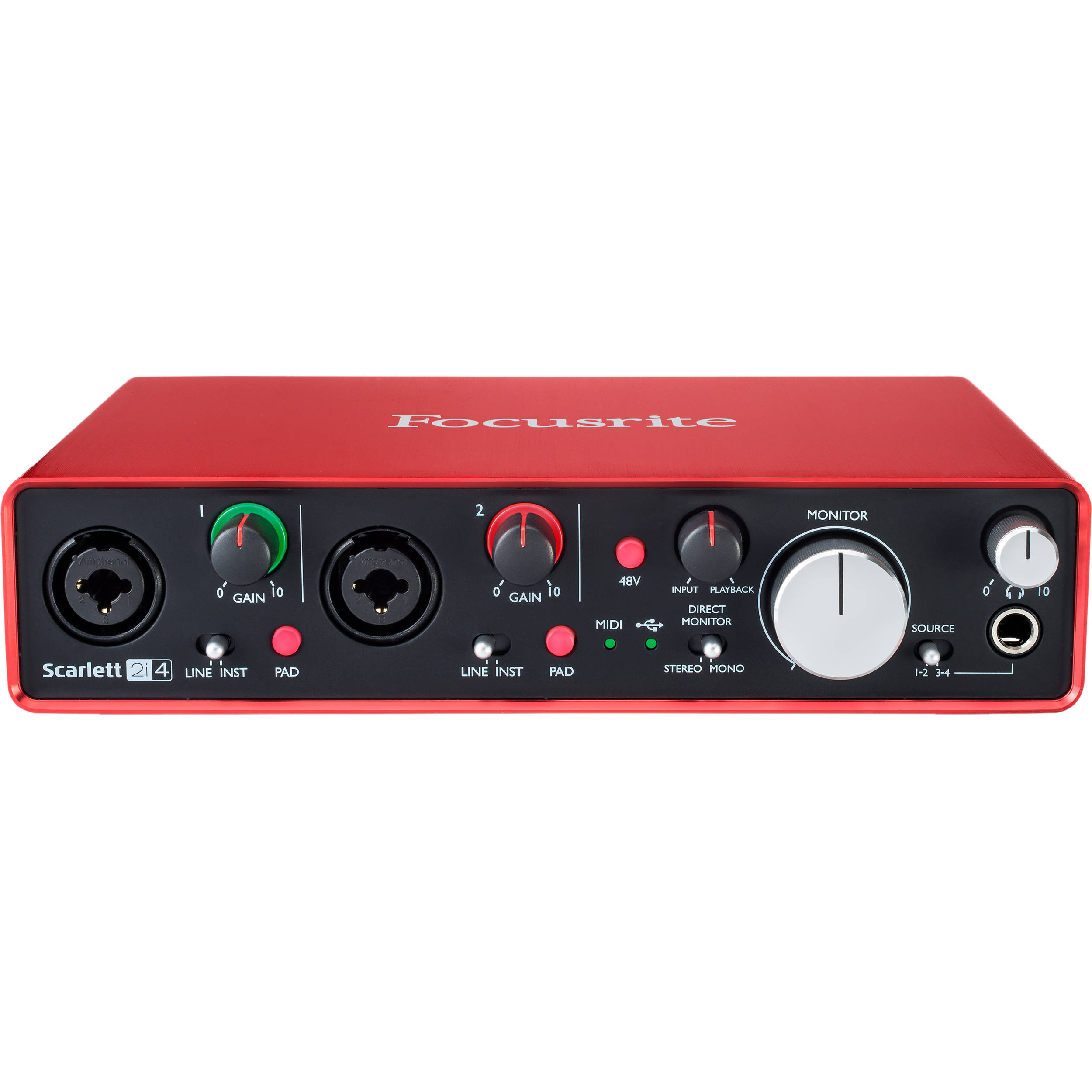 focusrite scarlett 2i4 usb audio interface scarlett 2i4 2nd gen. Black Bedroom Furniture Sets. Home Design Ideas
