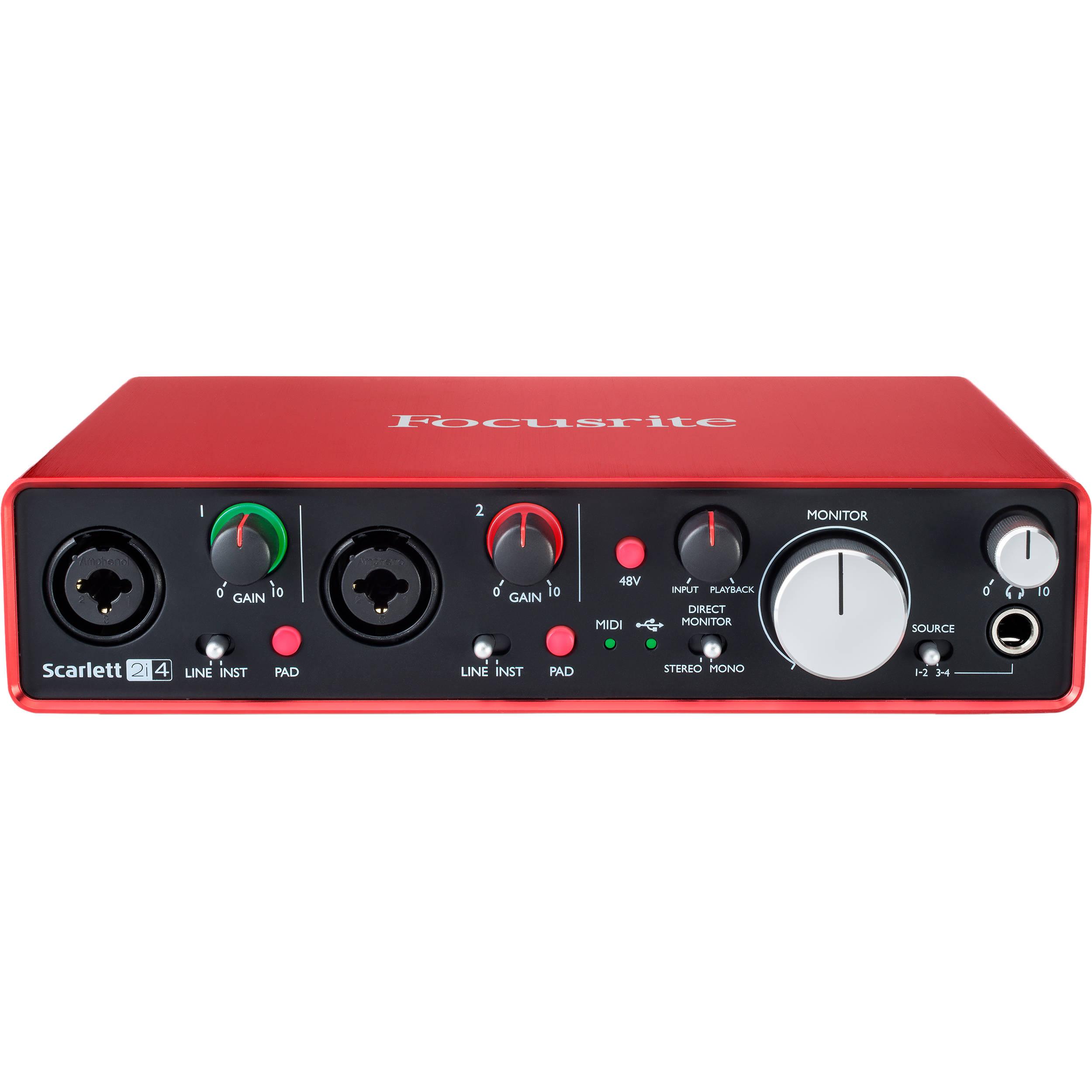 focusrite scarlett 2i4 usb audio interface scarlett 2i4 2nd gen