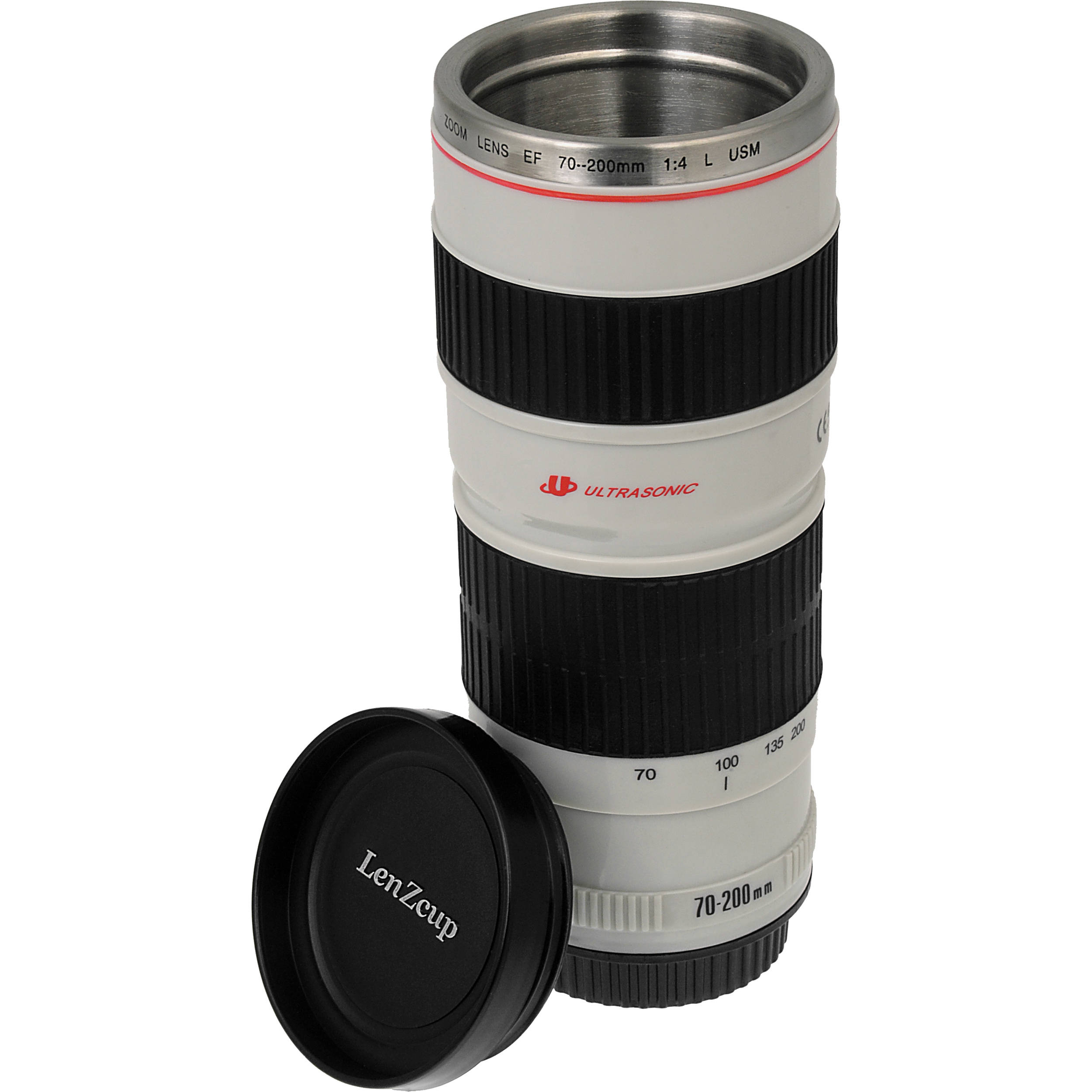 FotodioX LenZcup Replica Canon 70-200mm f/4L USM Lens Thermo Cup (White