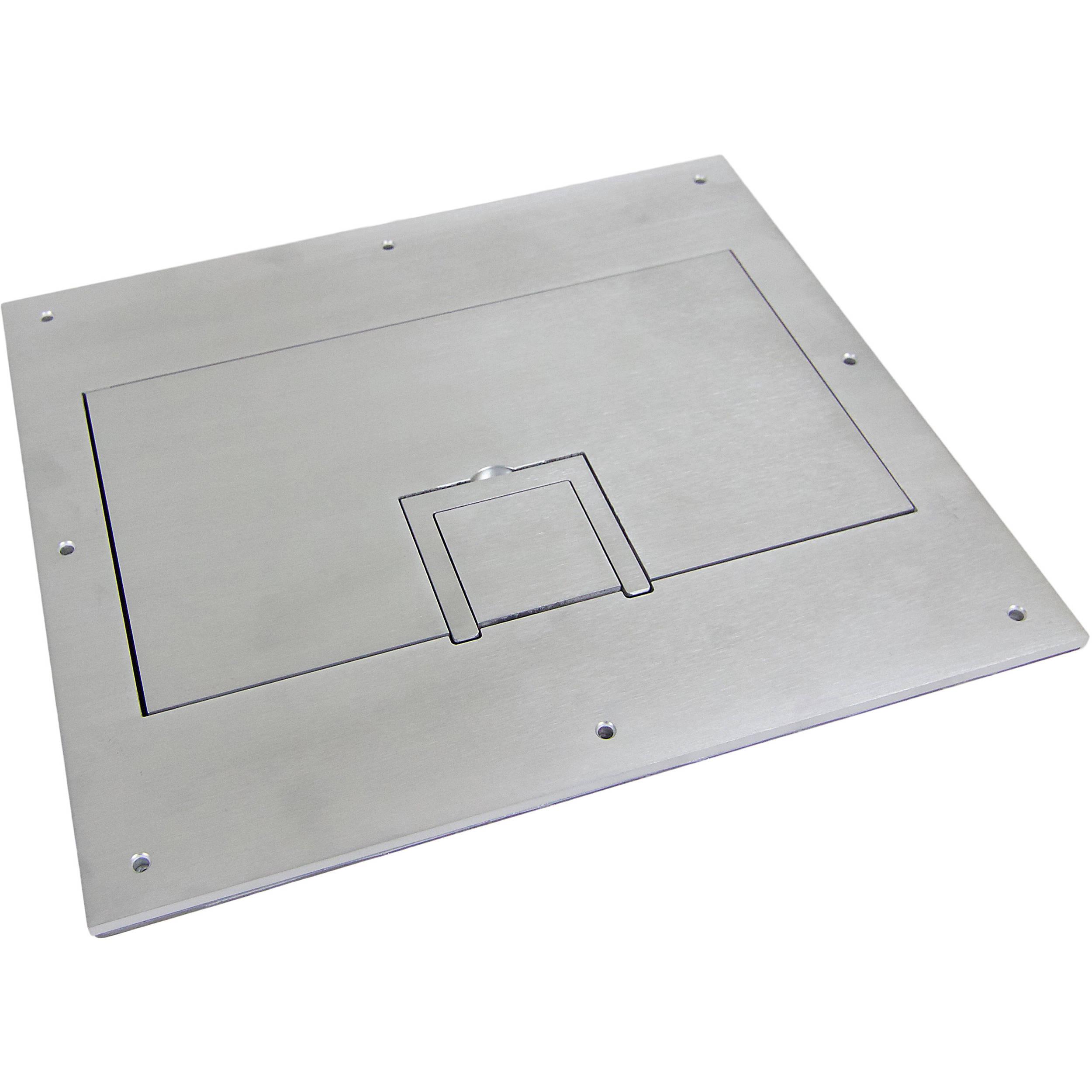 fsr solid aluminum cover for fl 600p floor box fl 600p sld alm c. Black Bedroom Furniture Sets. Home Design Ideas