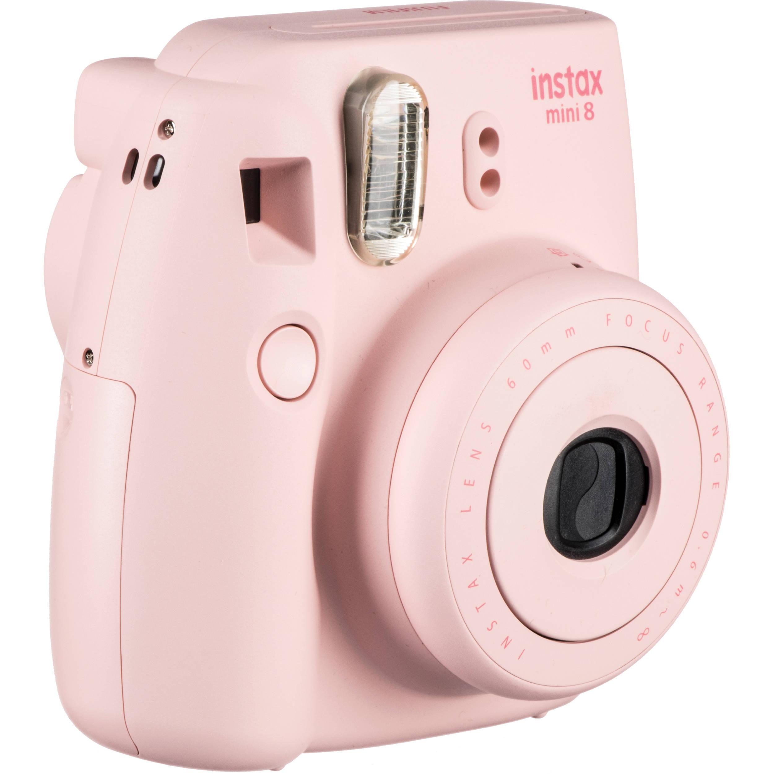 Fujifilm instax mini 8 Instant Film Camera (Pink) 16273415 B&H