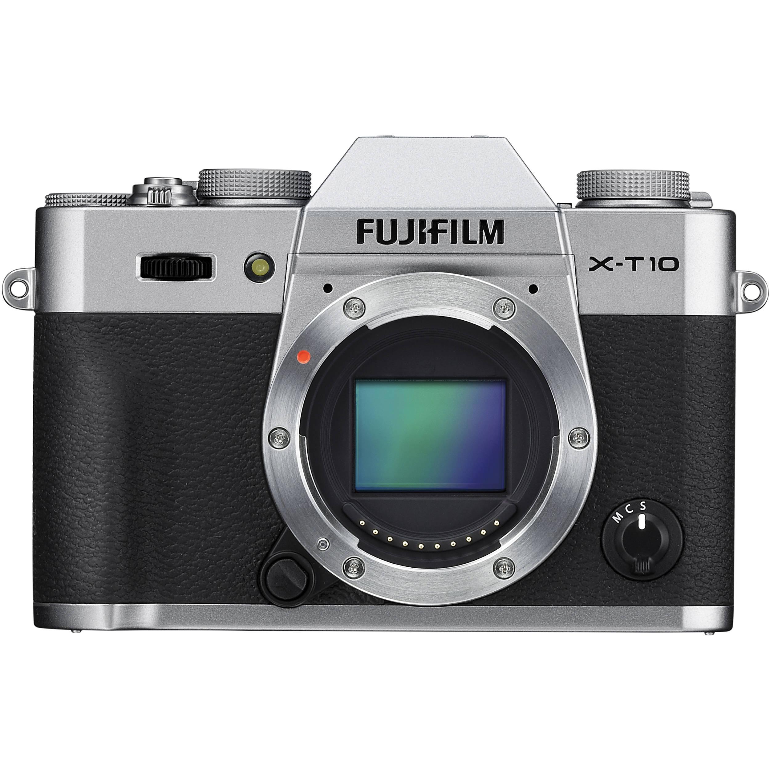 Fuji X T10 Bh Photo Video Screen Guard Fujifilm Xt10 Mirrorless Digital Camera Silver Body Only
