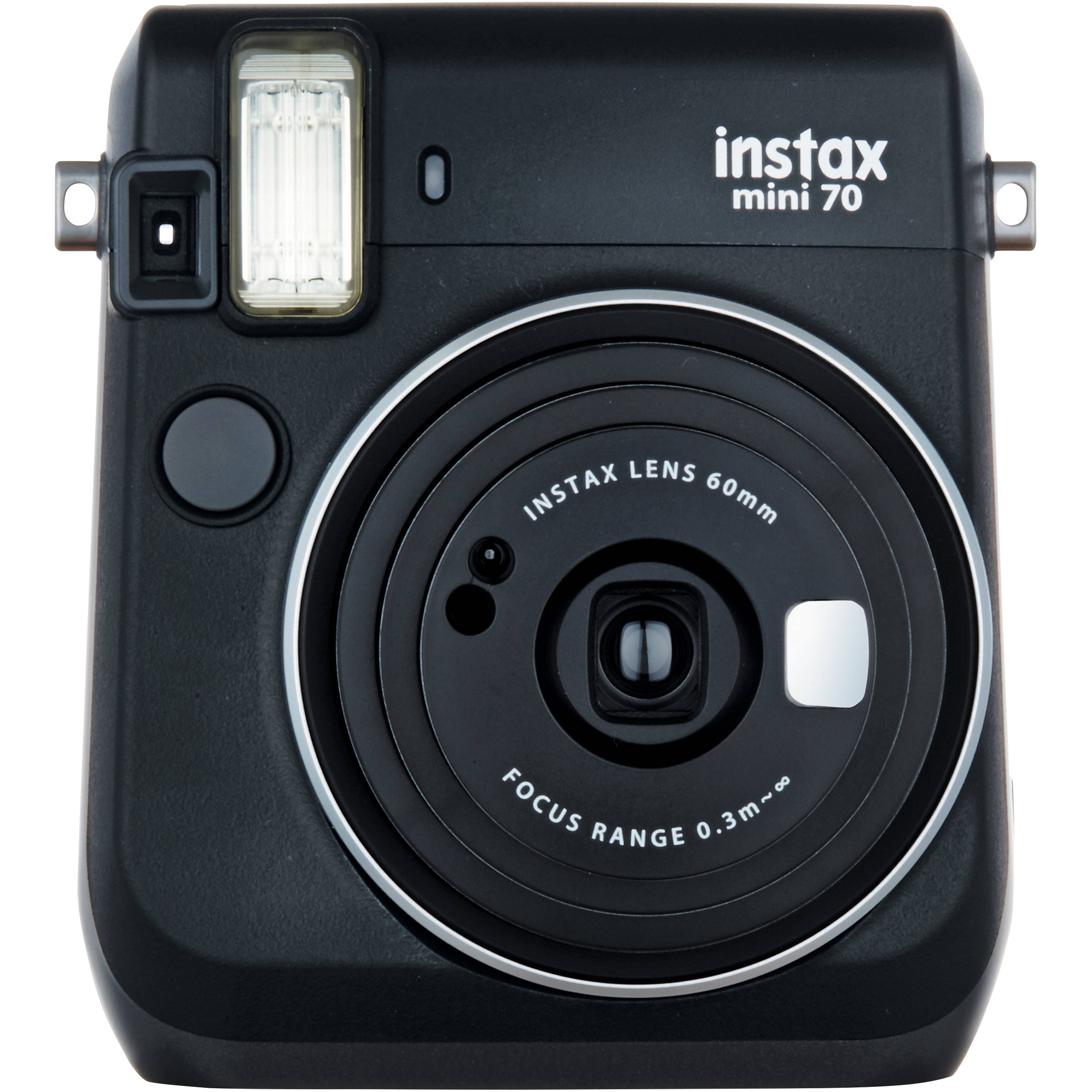 fujifilm instax mini 70 instant film camera black. Black Bedroom Furniture Sets. Home Design Ideas
