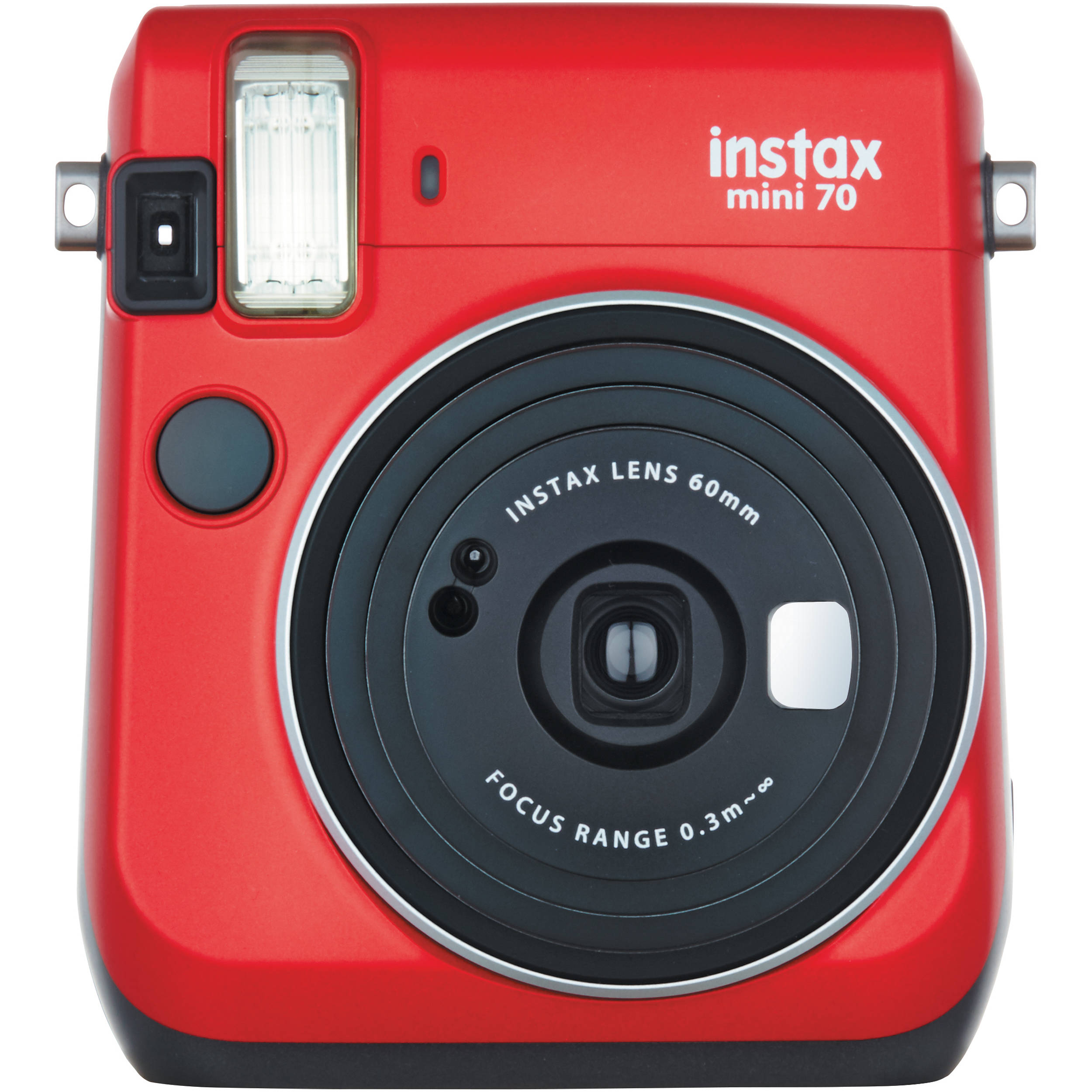Fujifilm instax mini 70 instant film camera red 16513918 b h for Housse instax mini 70