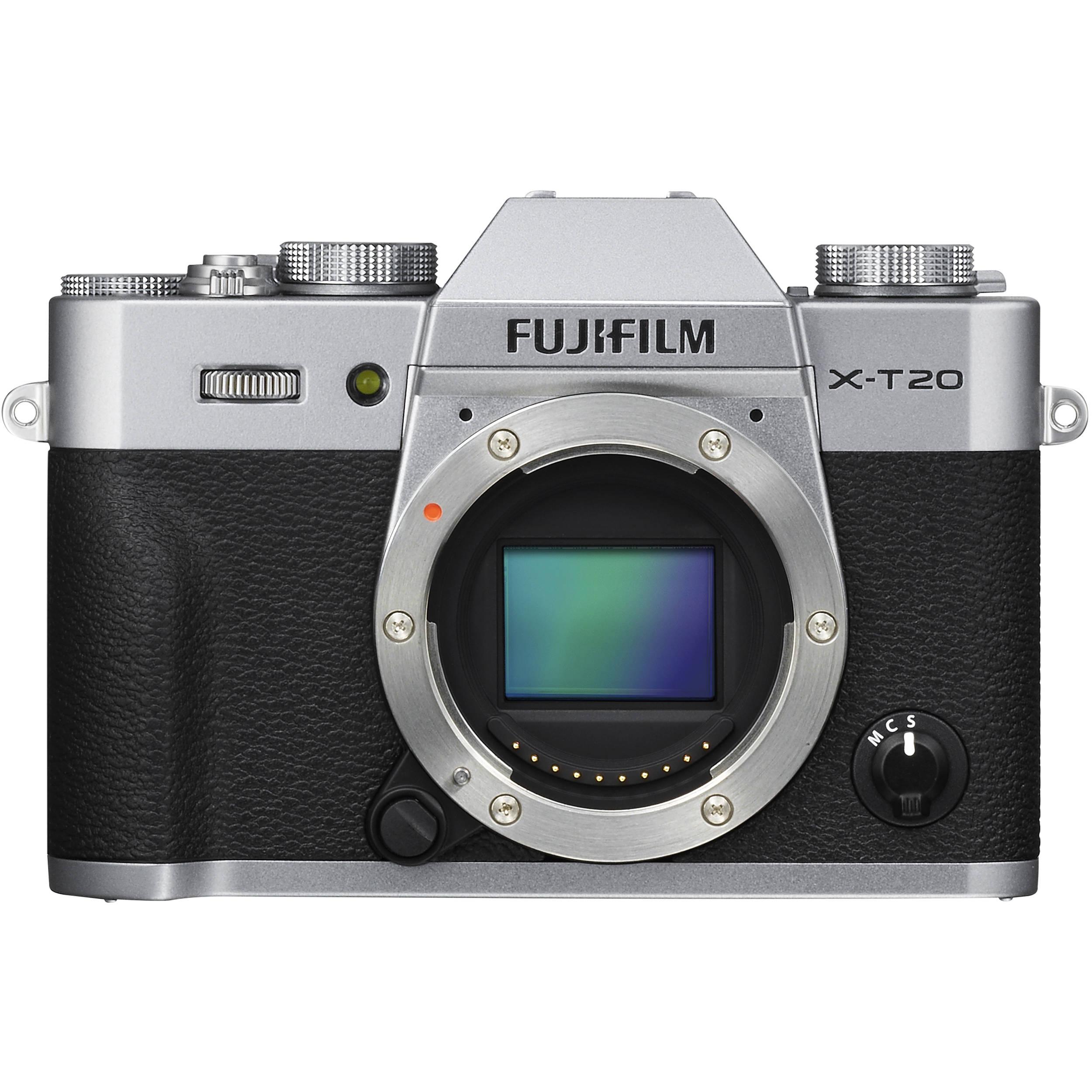 Fujifilm X T20 Mirrorless Digital Camera 16542359 Bh Photo T2 Body Black Only Silver