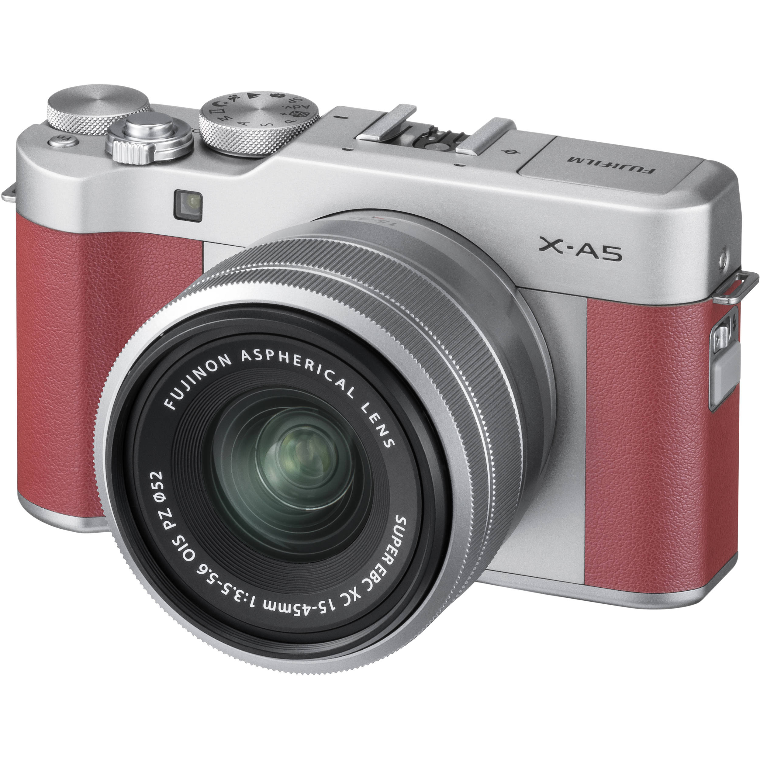 FUJIFILM X-A5 Mirrorless Digital Camera with 15-45mm Lens (Pink)