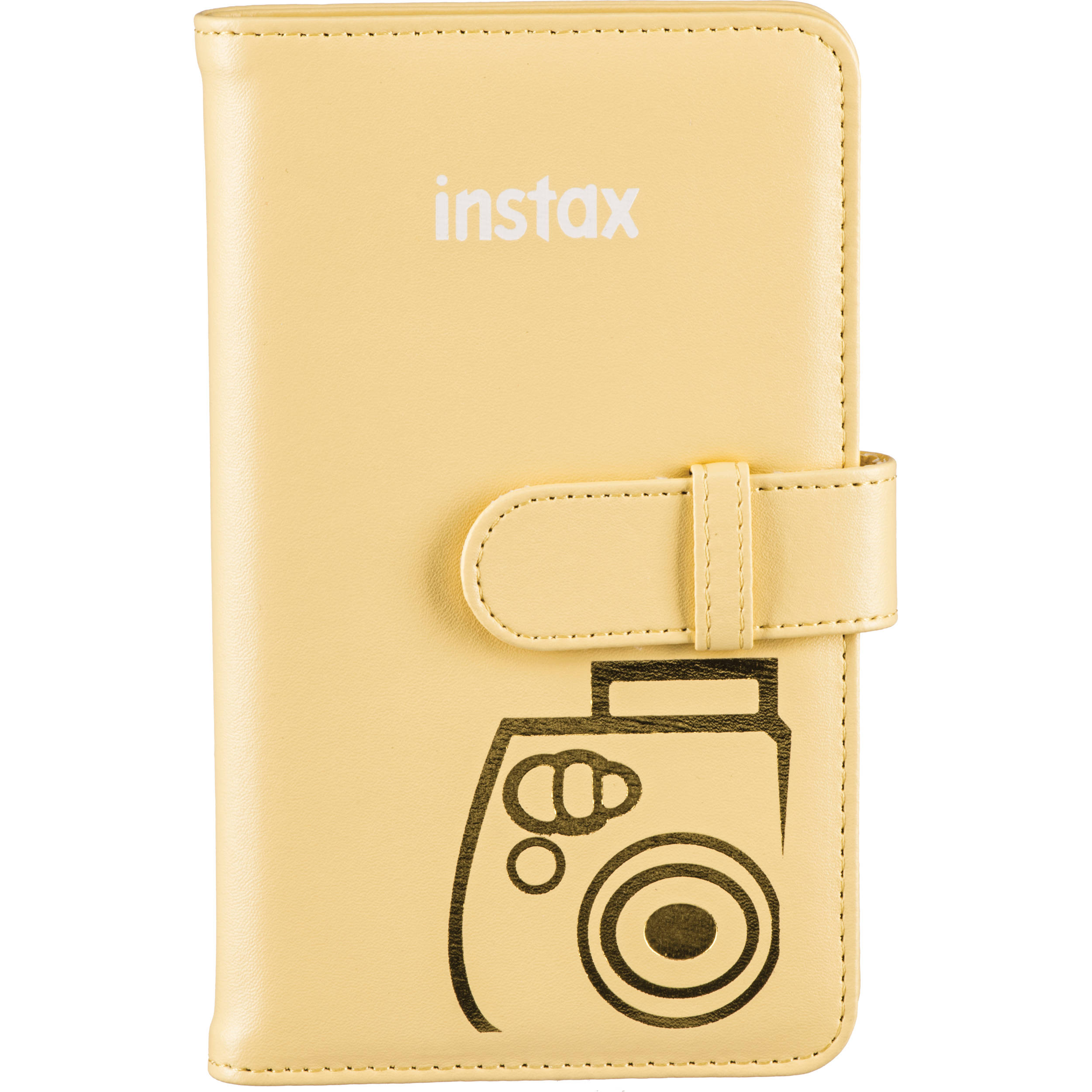 Fujifilm Instax Mini Wallet Album Yellow 600015560 Bh Photo