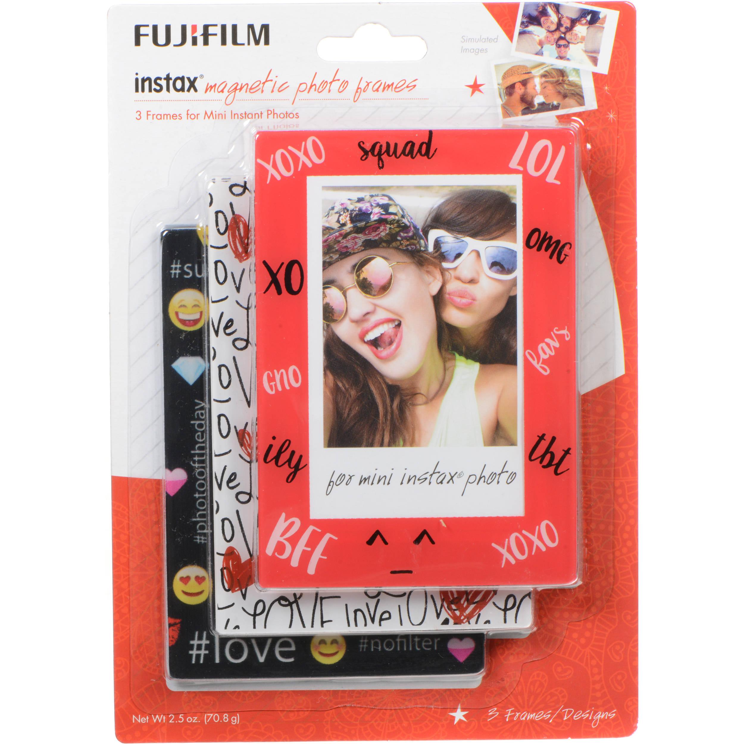 fujifilm instax 3pack magnetic frames emoji