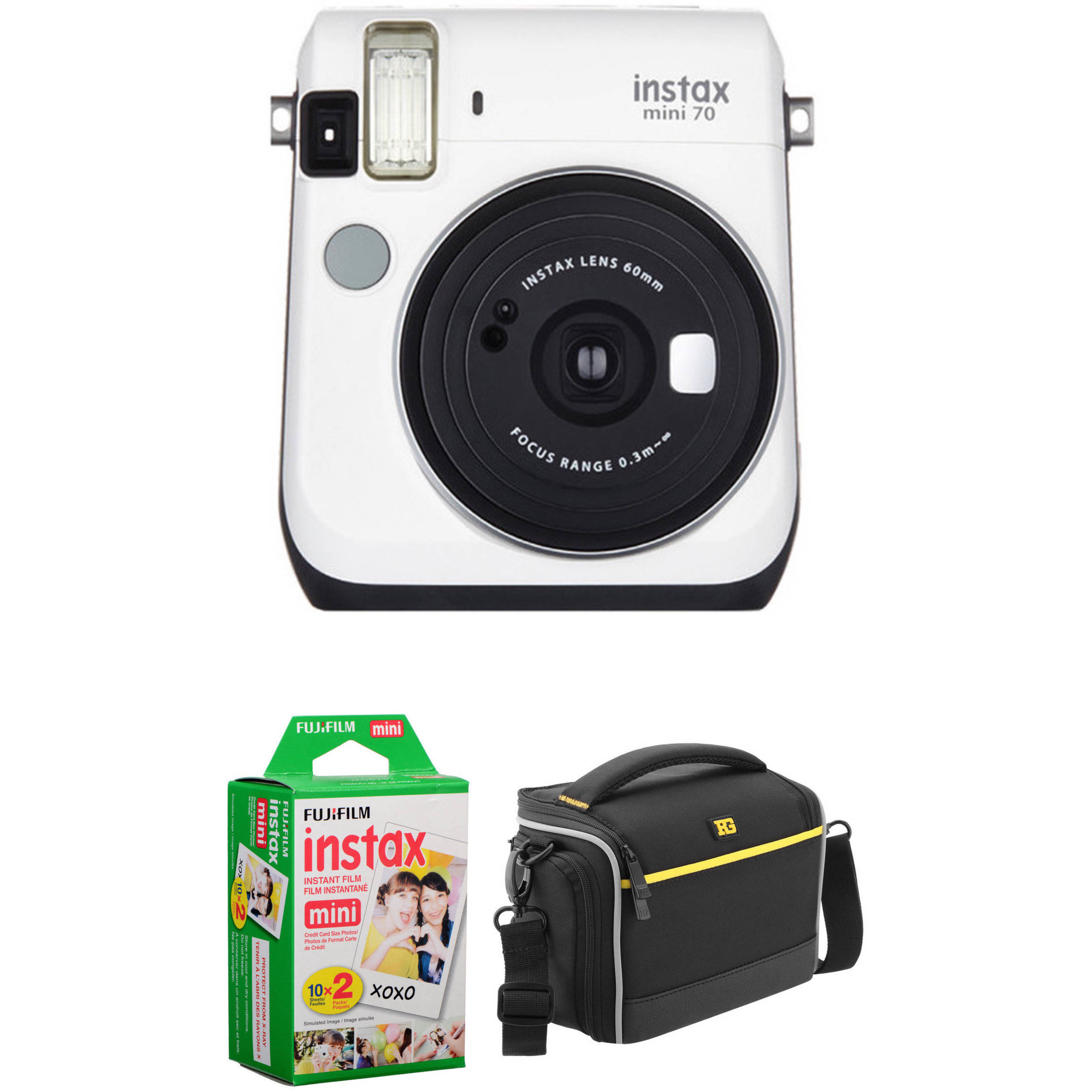 Fujifilm instax mini 70 instant film camera basic kit b h for Housse instax mini 70