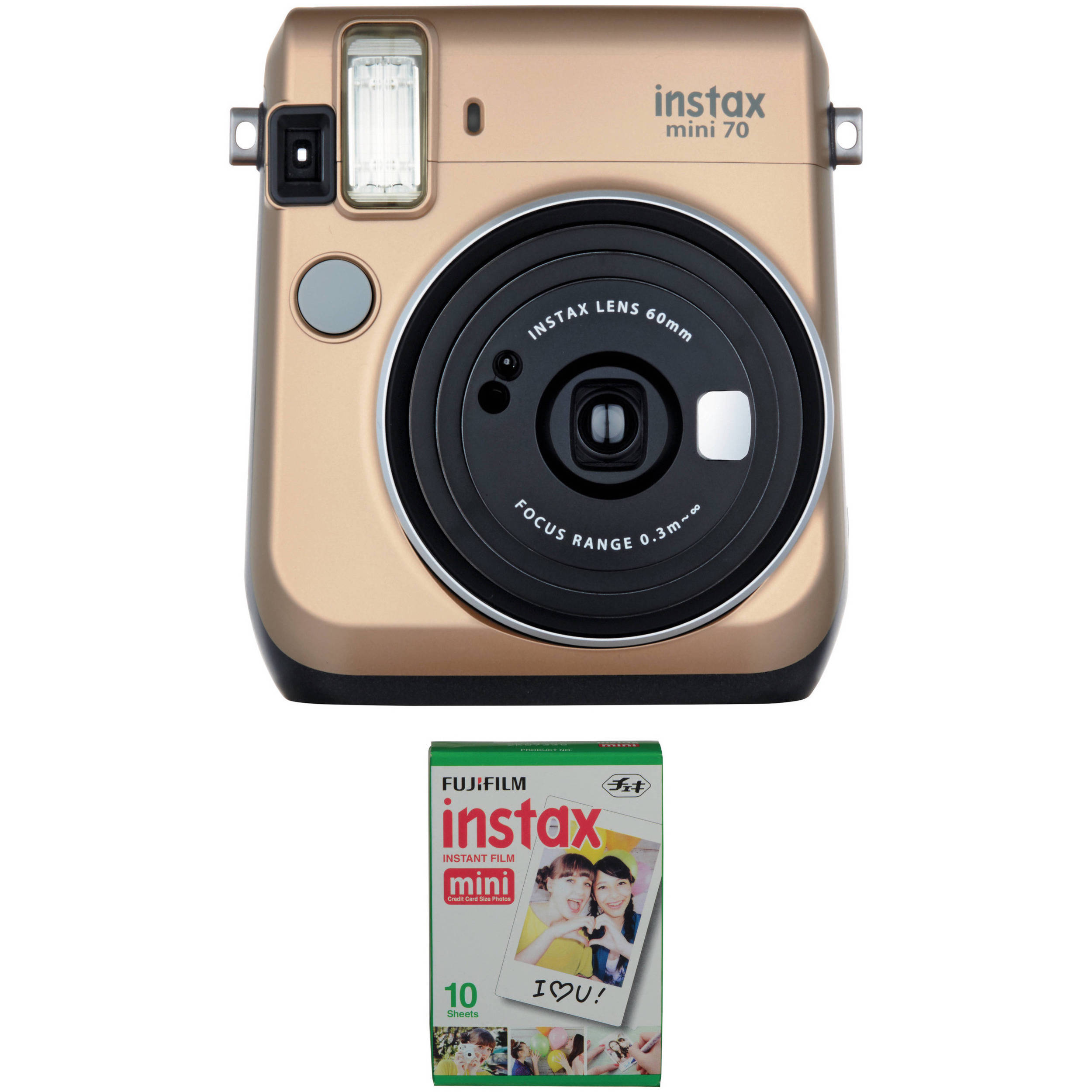 Fujifilm instax mini 70 instant film camera with single for Housse instax mini 70