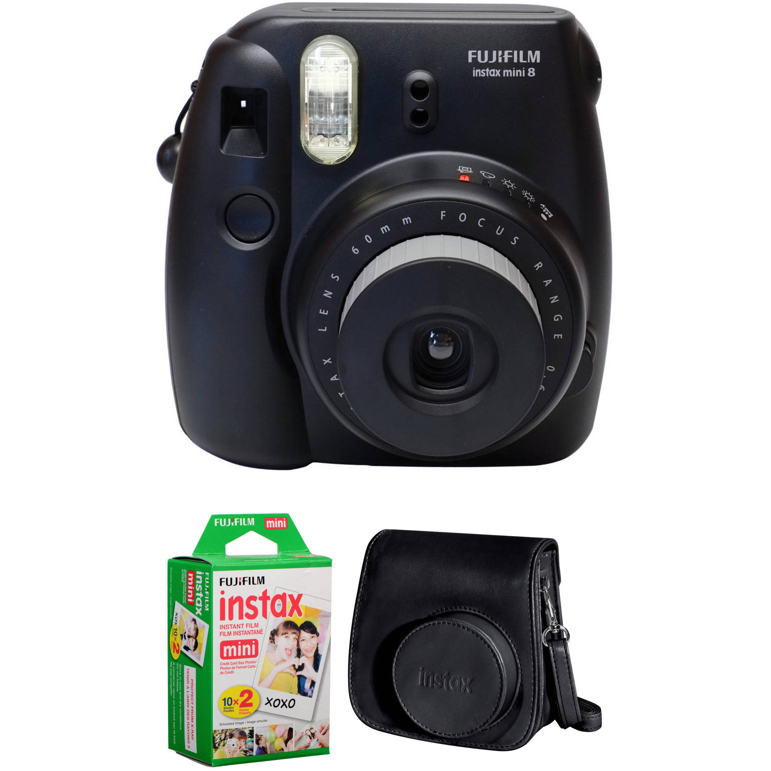 fujifilm instax mini 8 instant film camera basic kit. Black Bedroom Furniture Sets. Home Design Ideas