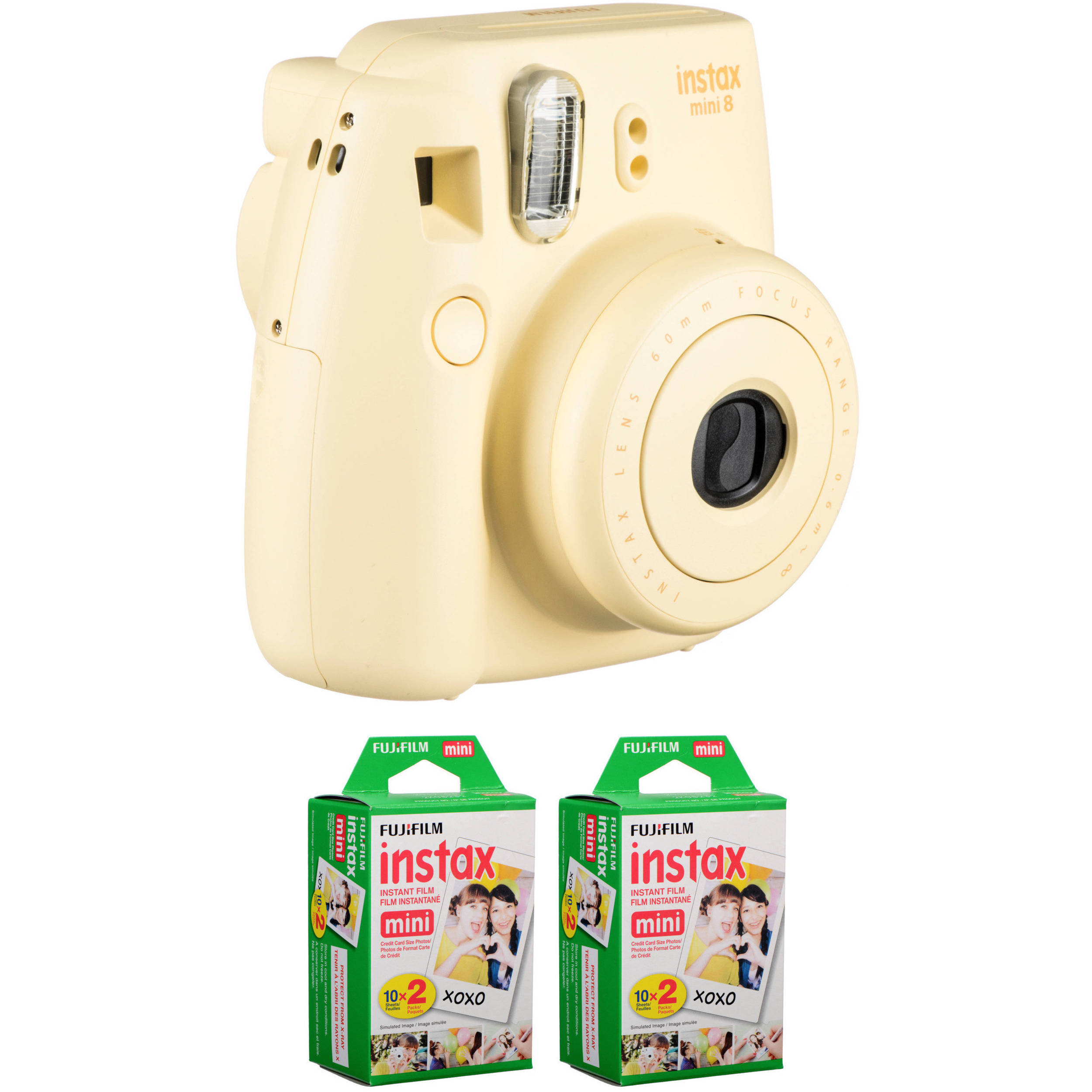 fujifilm instax mini 8 instant film camera with two twin packs. Black Bedroom Furniture Sets. Home Design Ideas