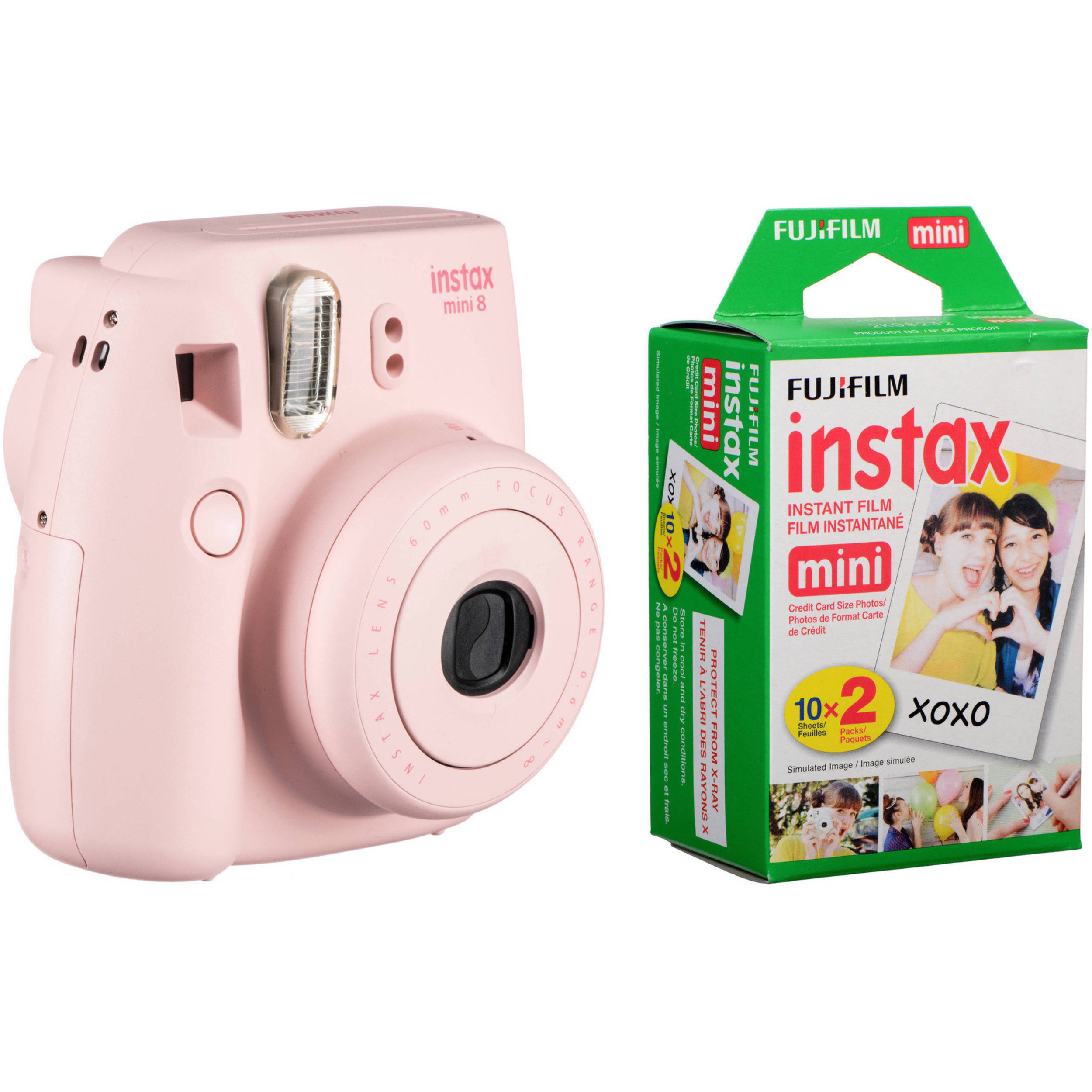 fujifilm instax mini 8 instant film camera with twin pack. Black Bedroom Furniture Sets. Home Design Ideas