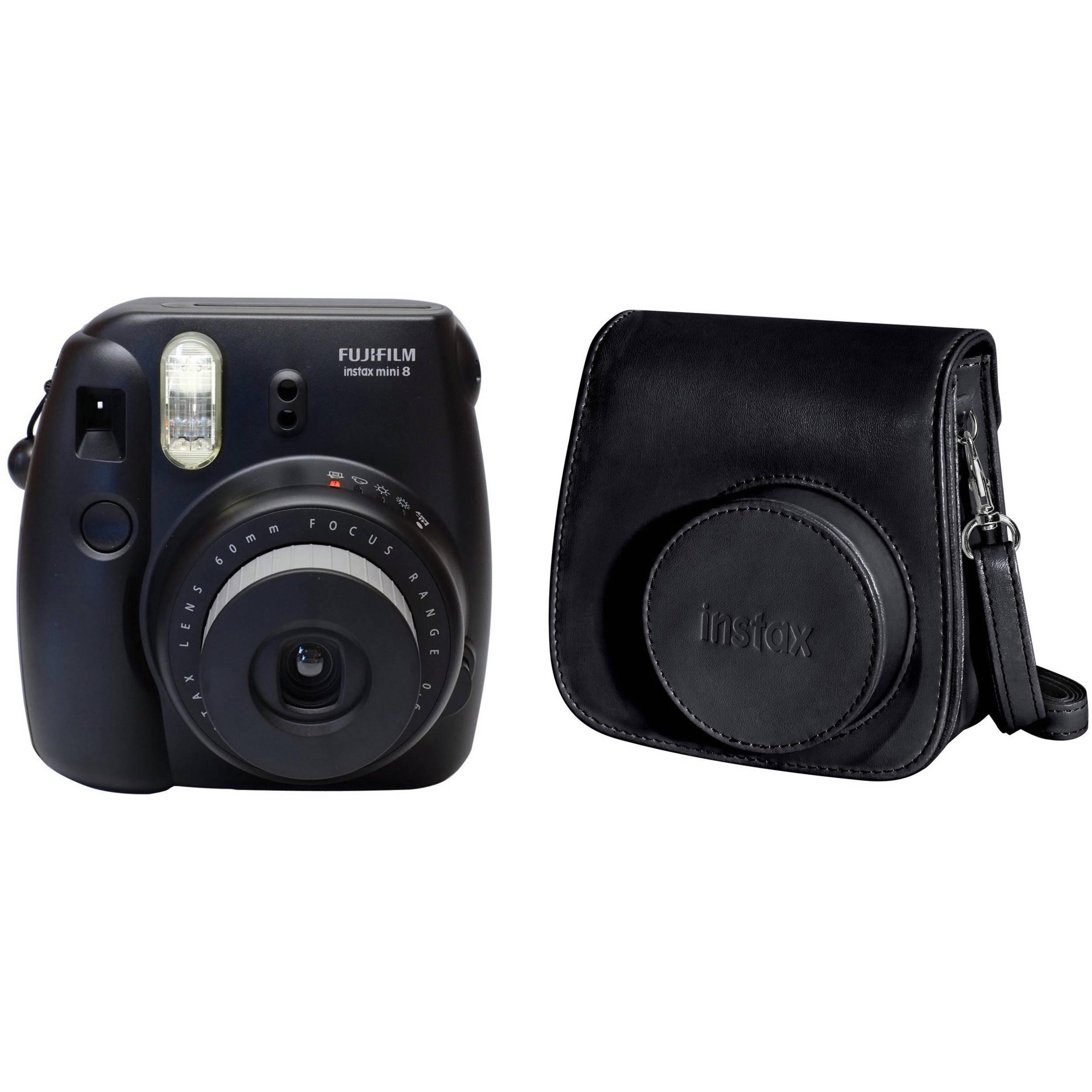 fujifilm instax mini 8 instant film camera case kit b h. Black Bedroom Furniture Sets. Home Design Ideas