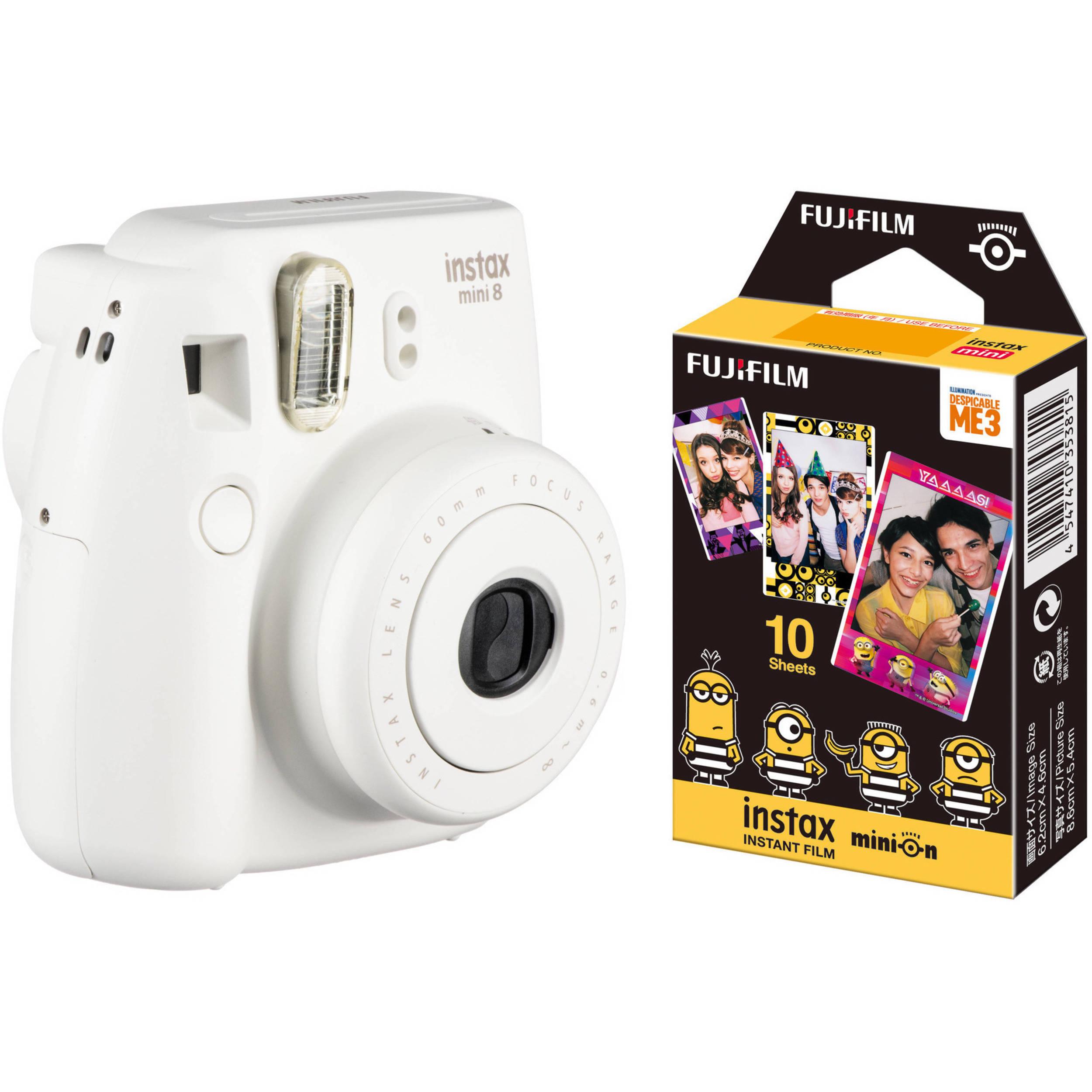 fujifilm instax mini 8 instant film camera with single pack of. Black Bedroom Furniture Sets. Home Design Ideas