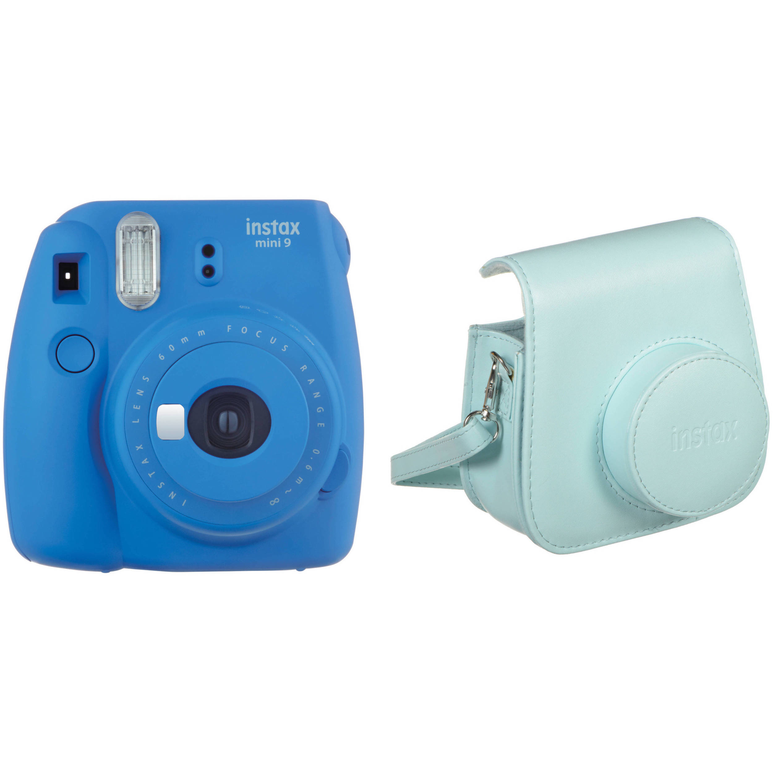 Fujifilm instax mini 9 instant film camera with case kit b h for Housse instax mini 9