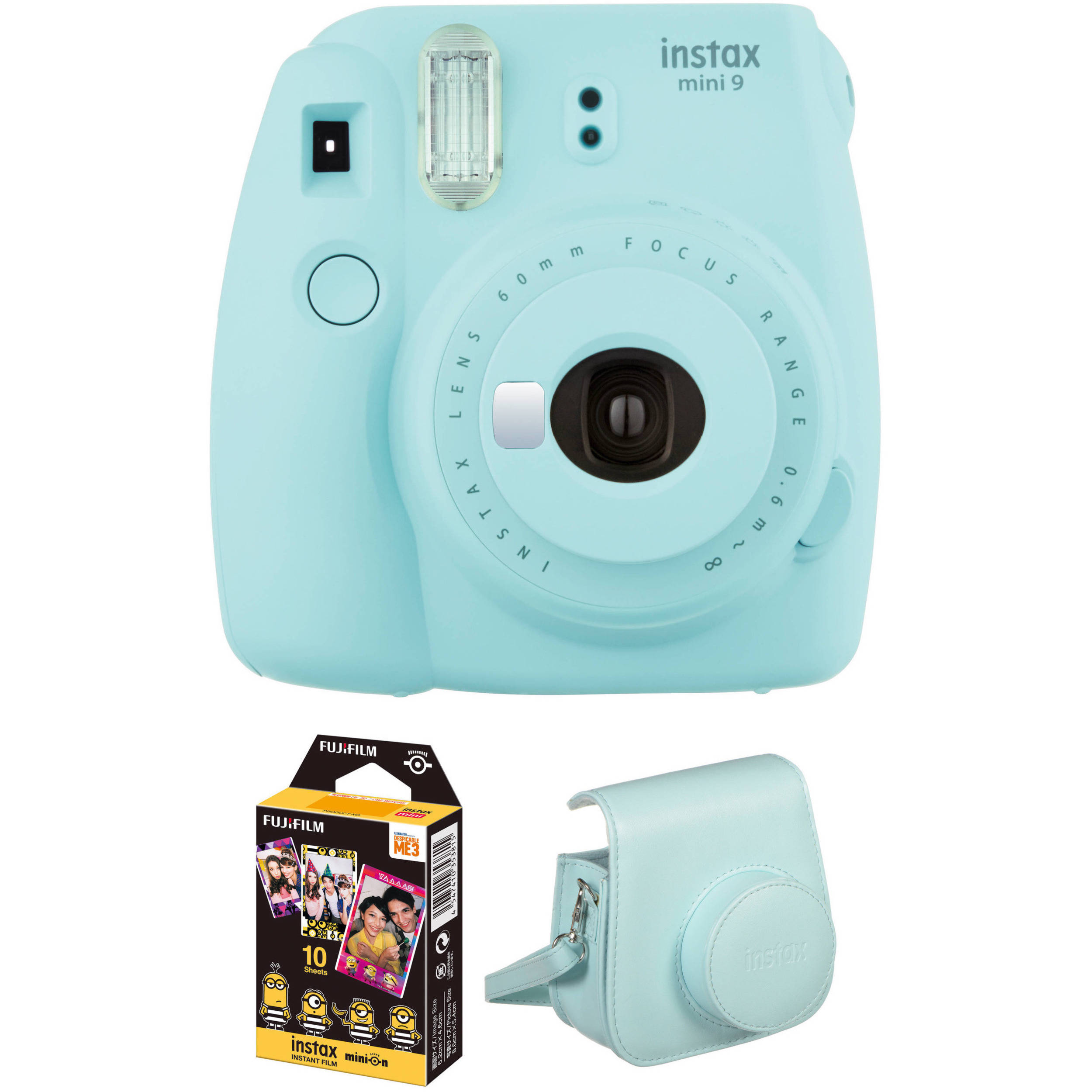 Fujifilm instax mini 9 instant film camera with instant for Housse instax mini 9