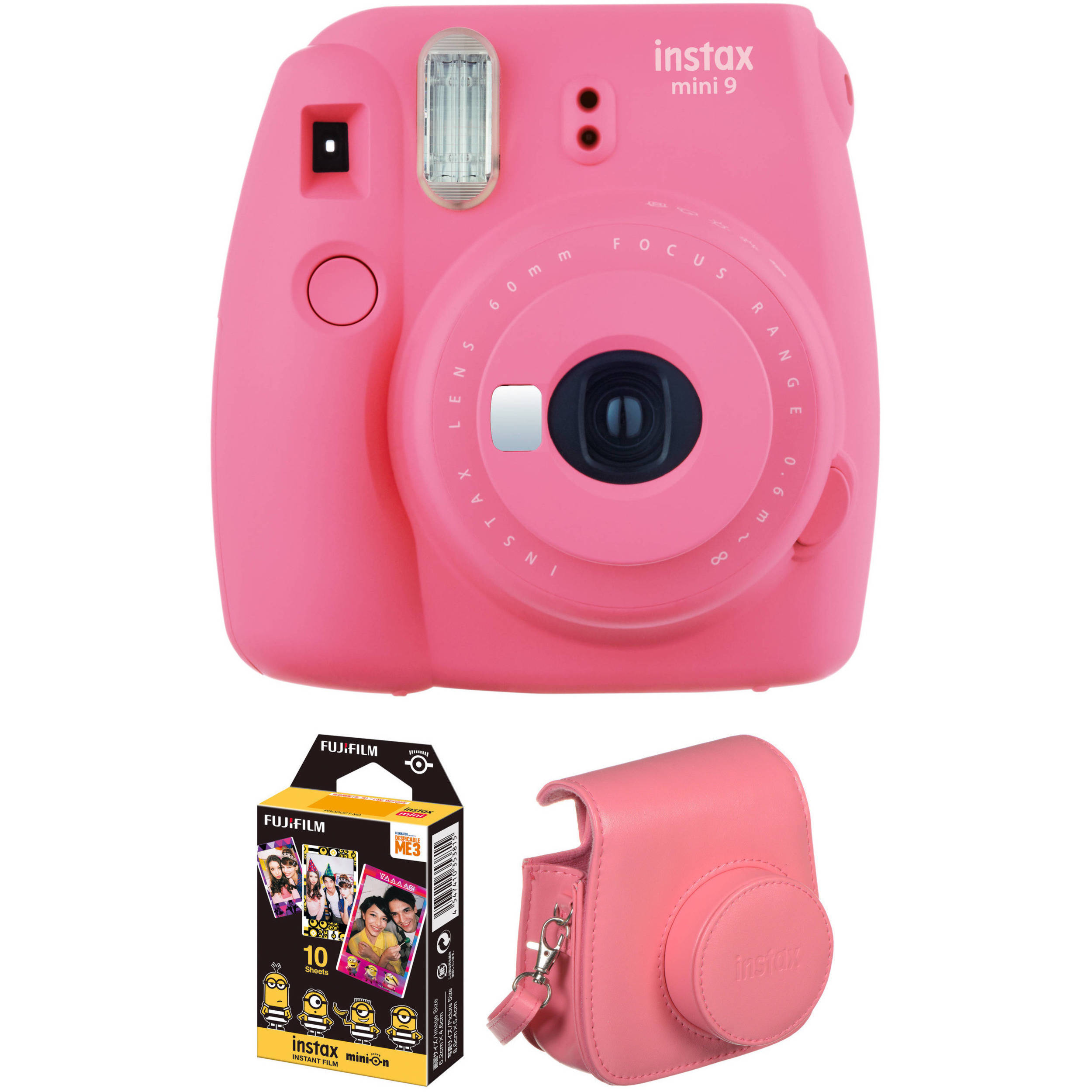 Fujifilm instax mini 9 instant film camera with instant for Housse instax mini 9