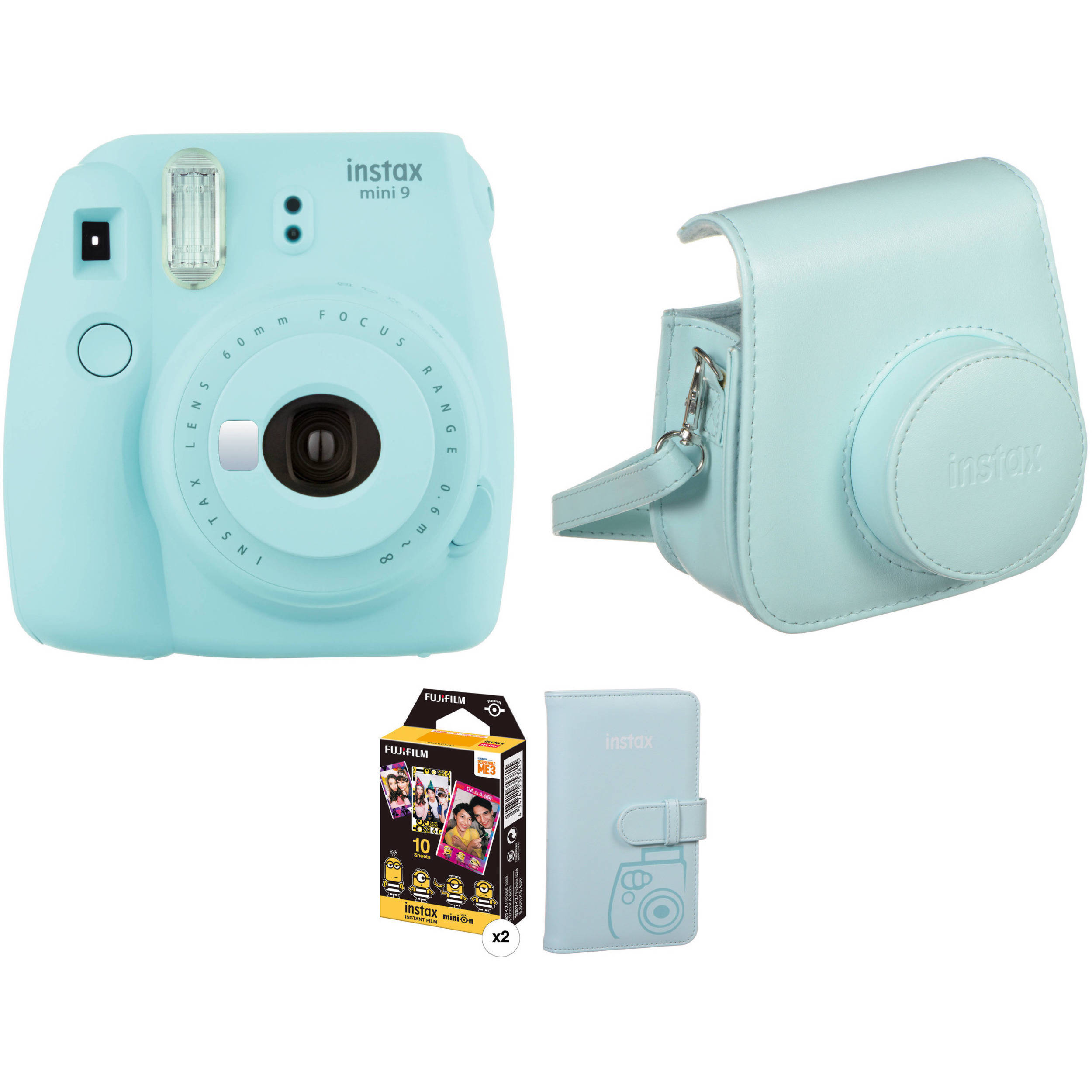 fujifilm instax mini 9 instant film camera with film and b h