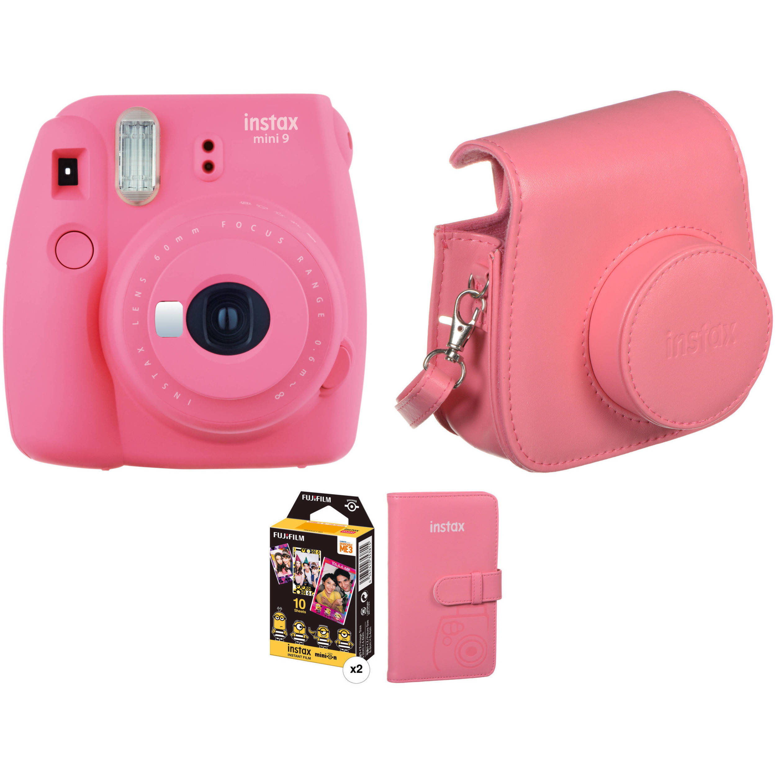 Fujifilm instax mini 9 instant film camera with film and b h for Housse instax mini 9