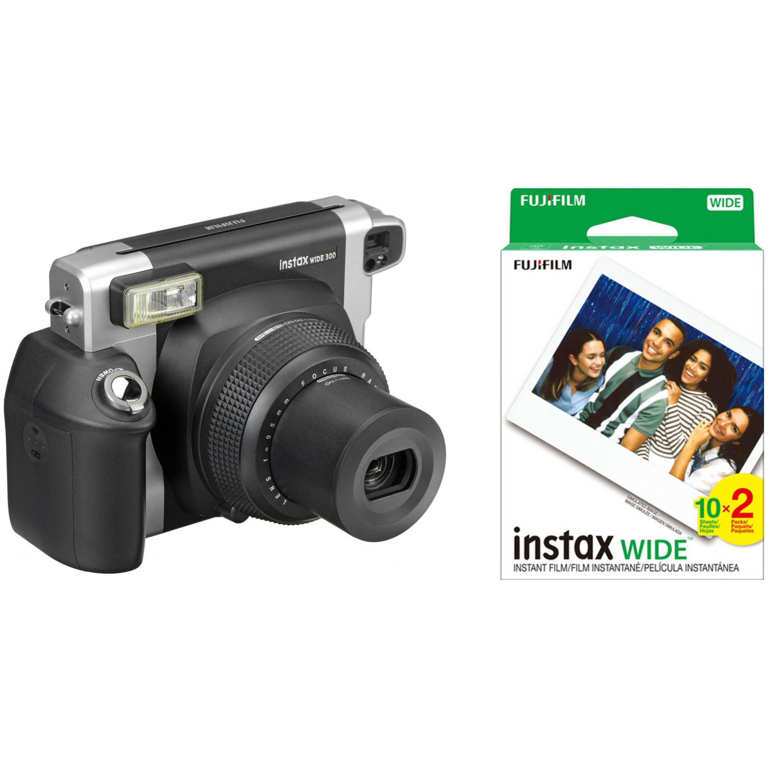 fujifilm instax wide 300 instant film camera with twin pack of. Black Bedroom Furniture Sets. Home Design Ideas