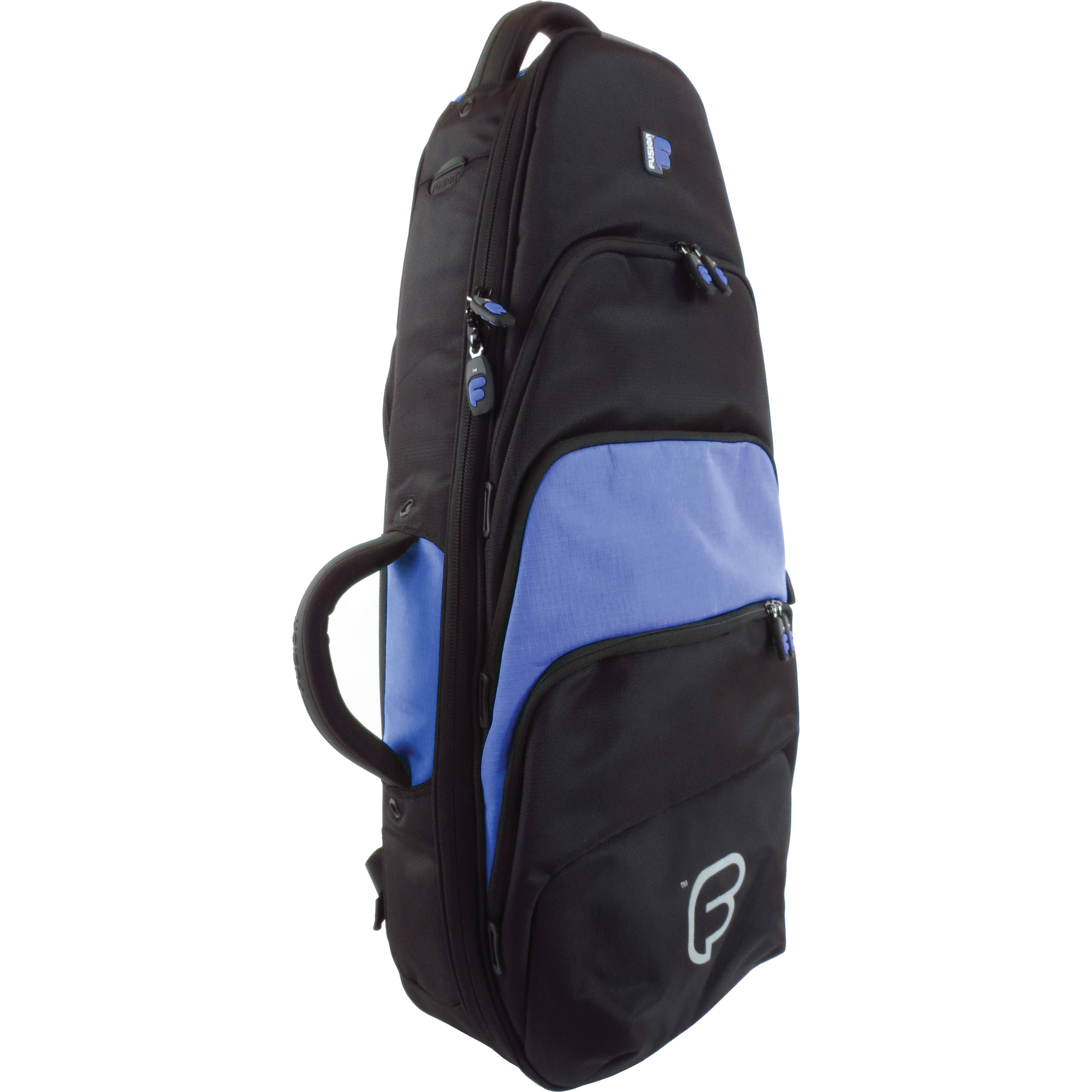 Fusion Bags Premium Tenor Ukulele Or Mandolin Gig Bag Black Blue