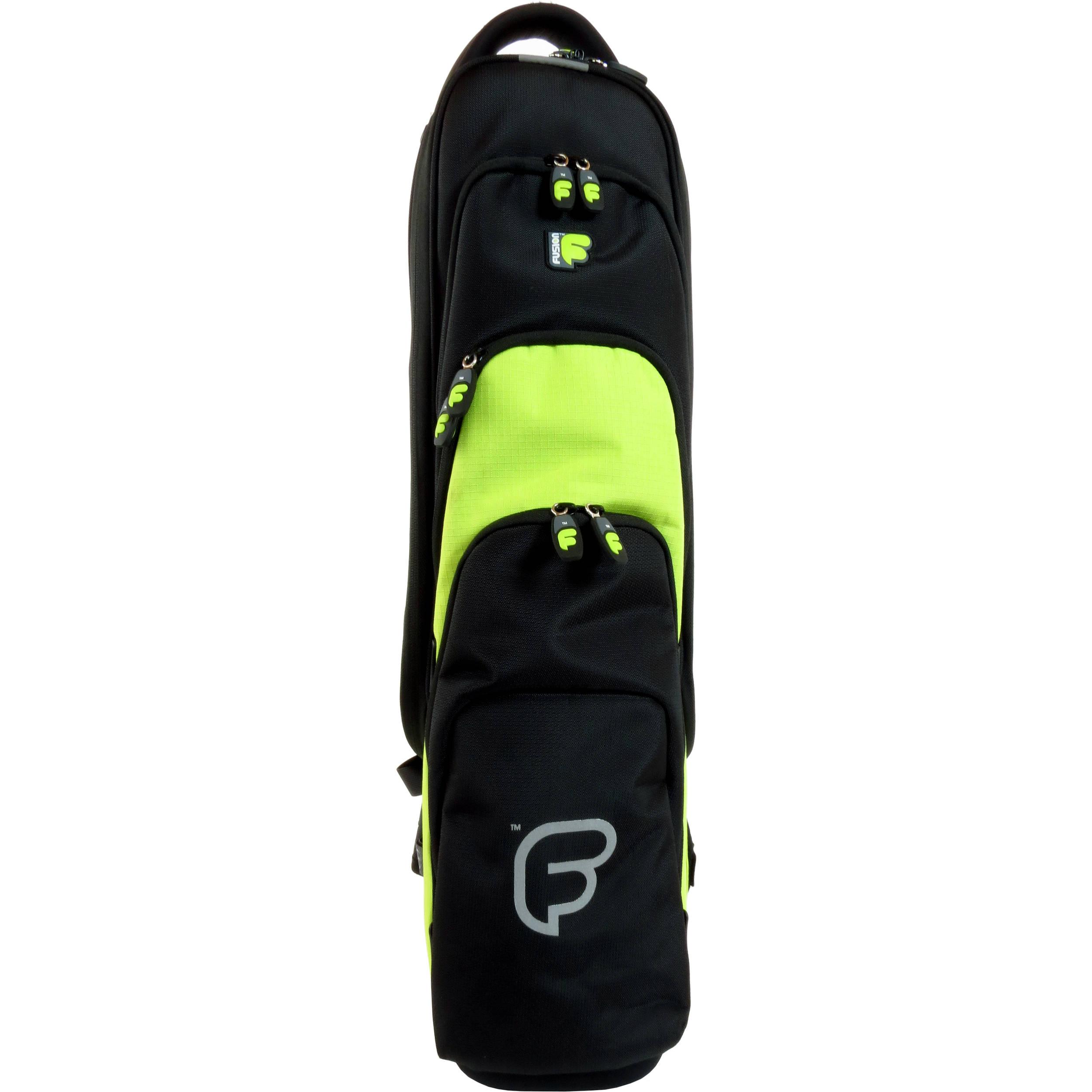 Fusion-Bags Premium Soprano Saxophone / Clarinet / Flute Gig Bag (Black /Lime)