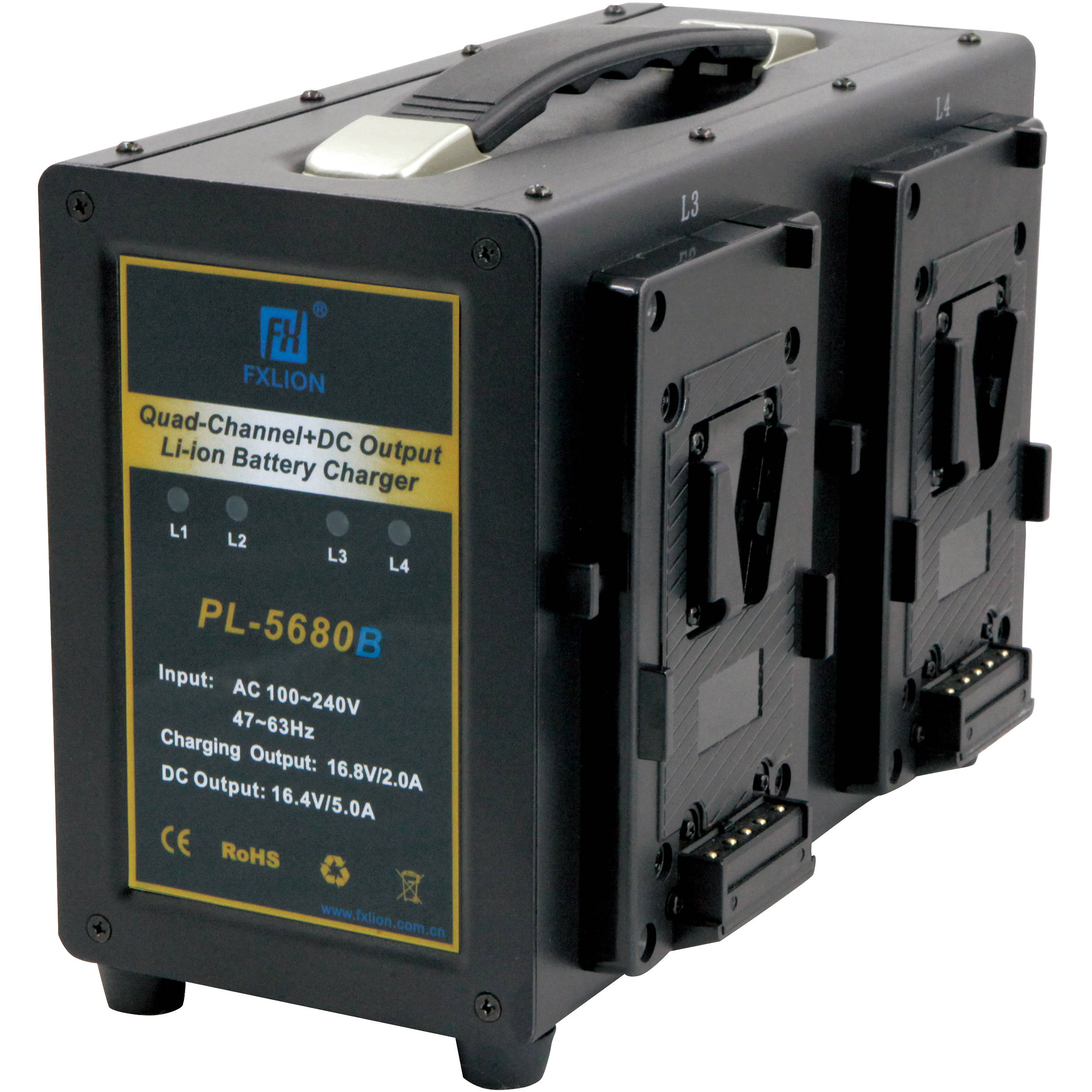 Fxlion 4 Channel V Mount Battery Charger with DC