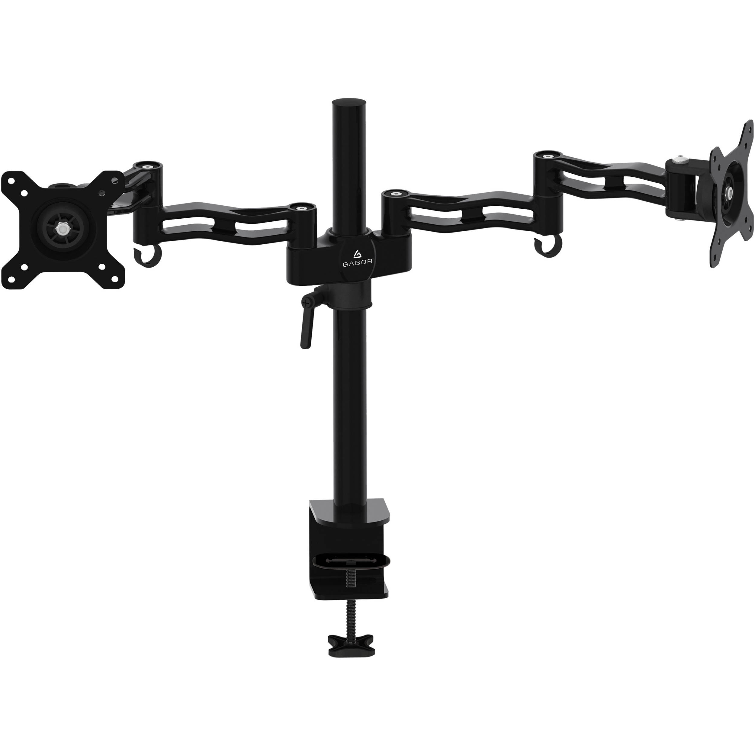 Gabor Md Bd13b Dual Monitor Desktop Mount With Articulating Arms Black