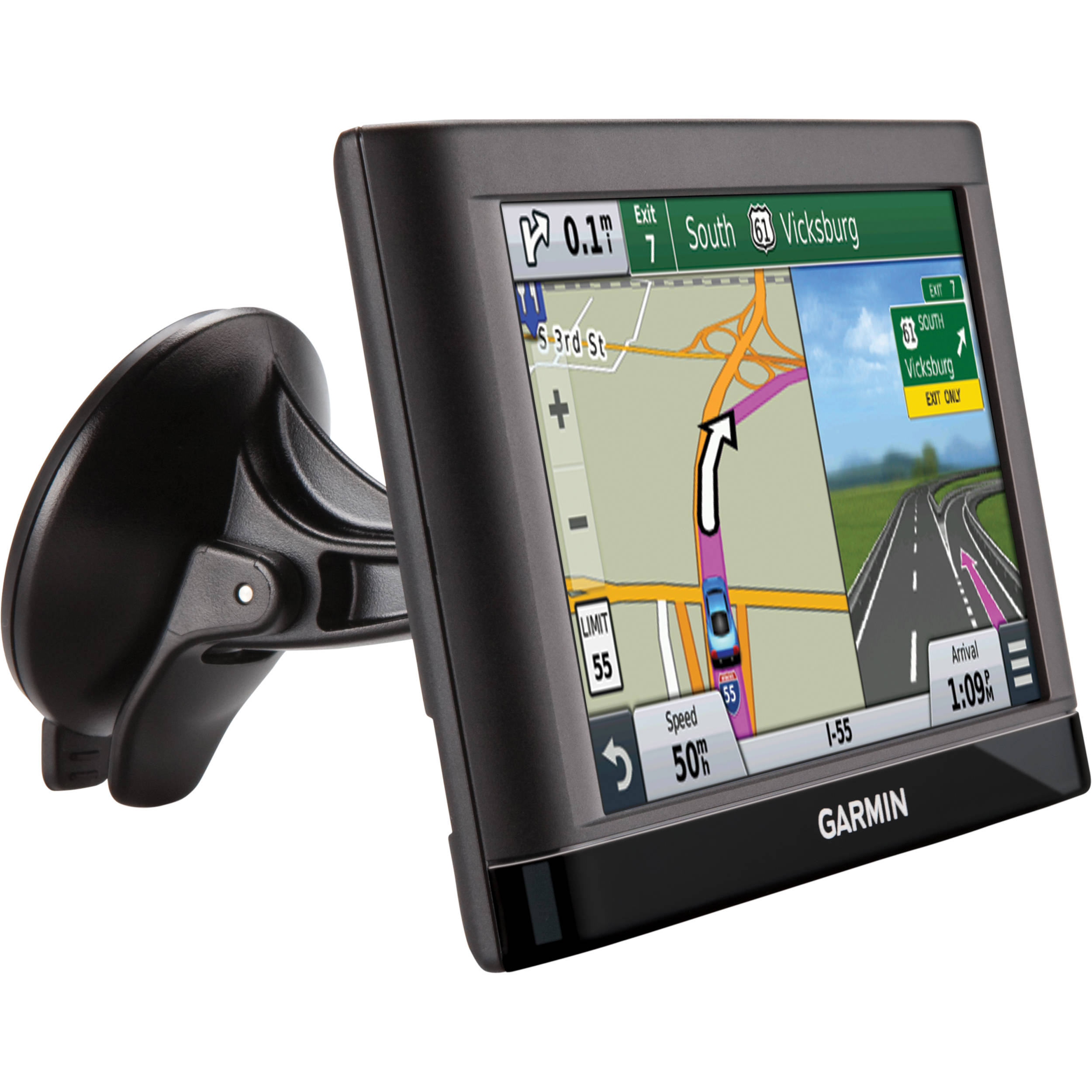 garmin nuvi 65 lm 6 gps navigation w lifetime map updates. Black Bedroom Furniture Sets. Home Design Ideas