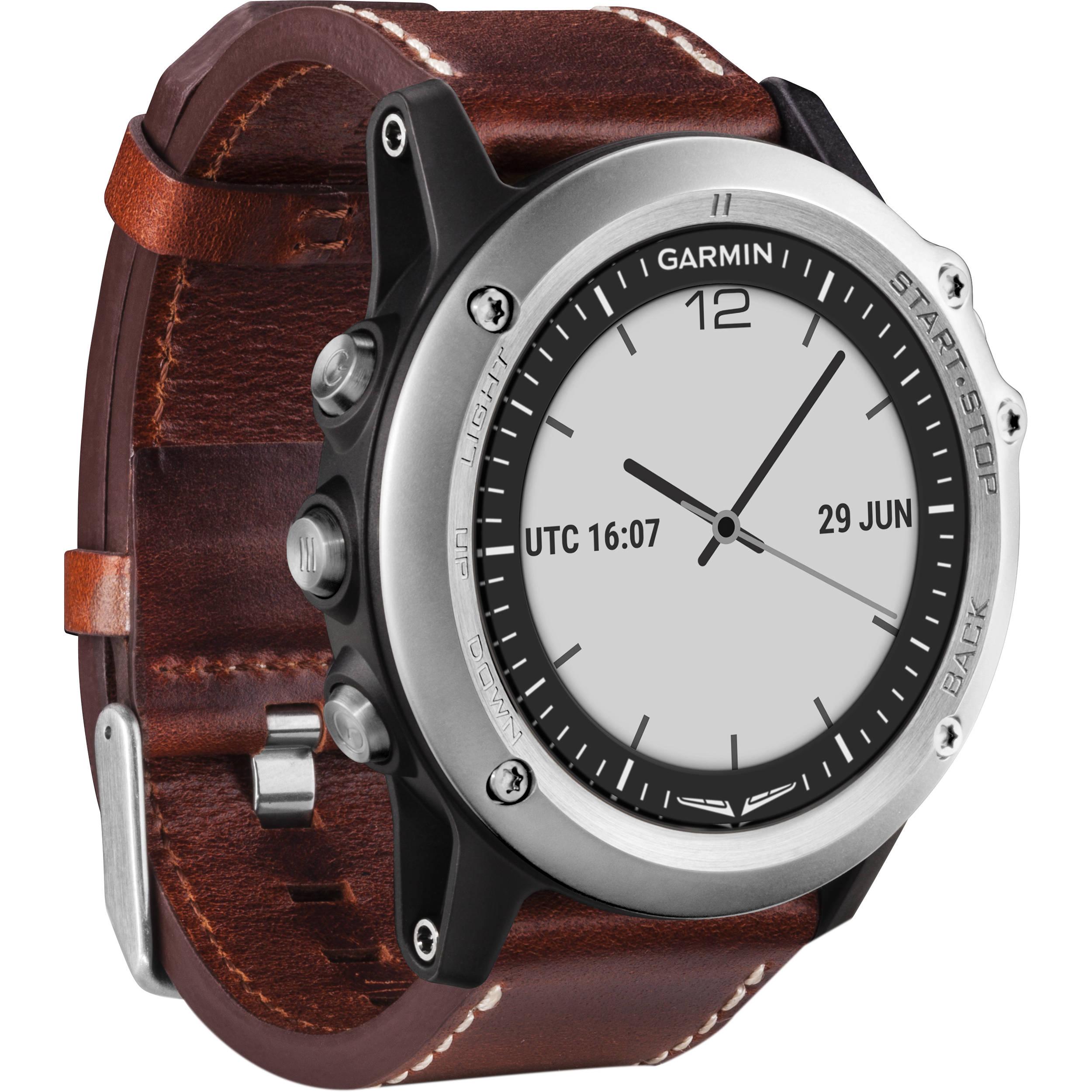 036a7281ba9 Garmin D2 Bravo GPS Aviator Navigation Watch (Brown Leather Band)