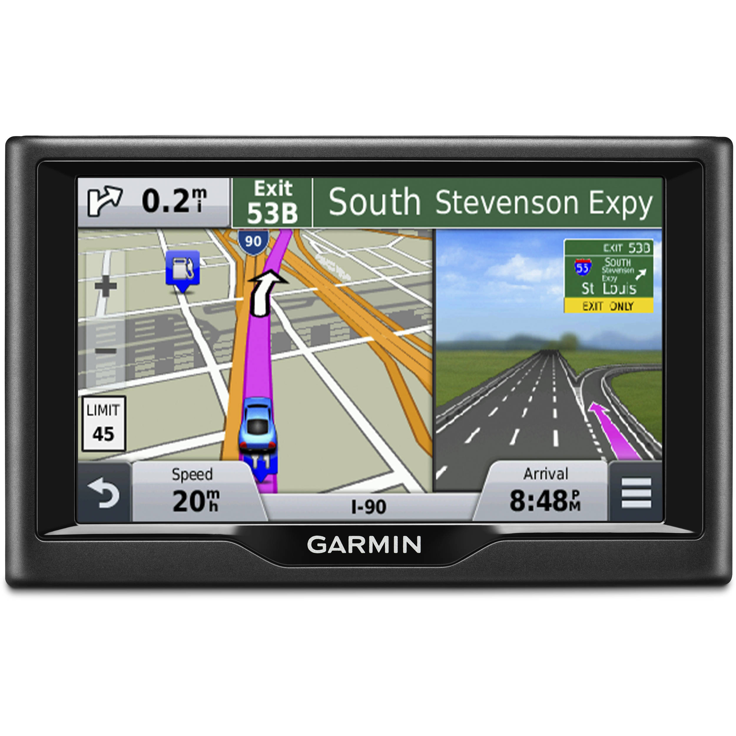 Garmin nuvi 58LM GPS with US and Canada Maps 0100140004 BH