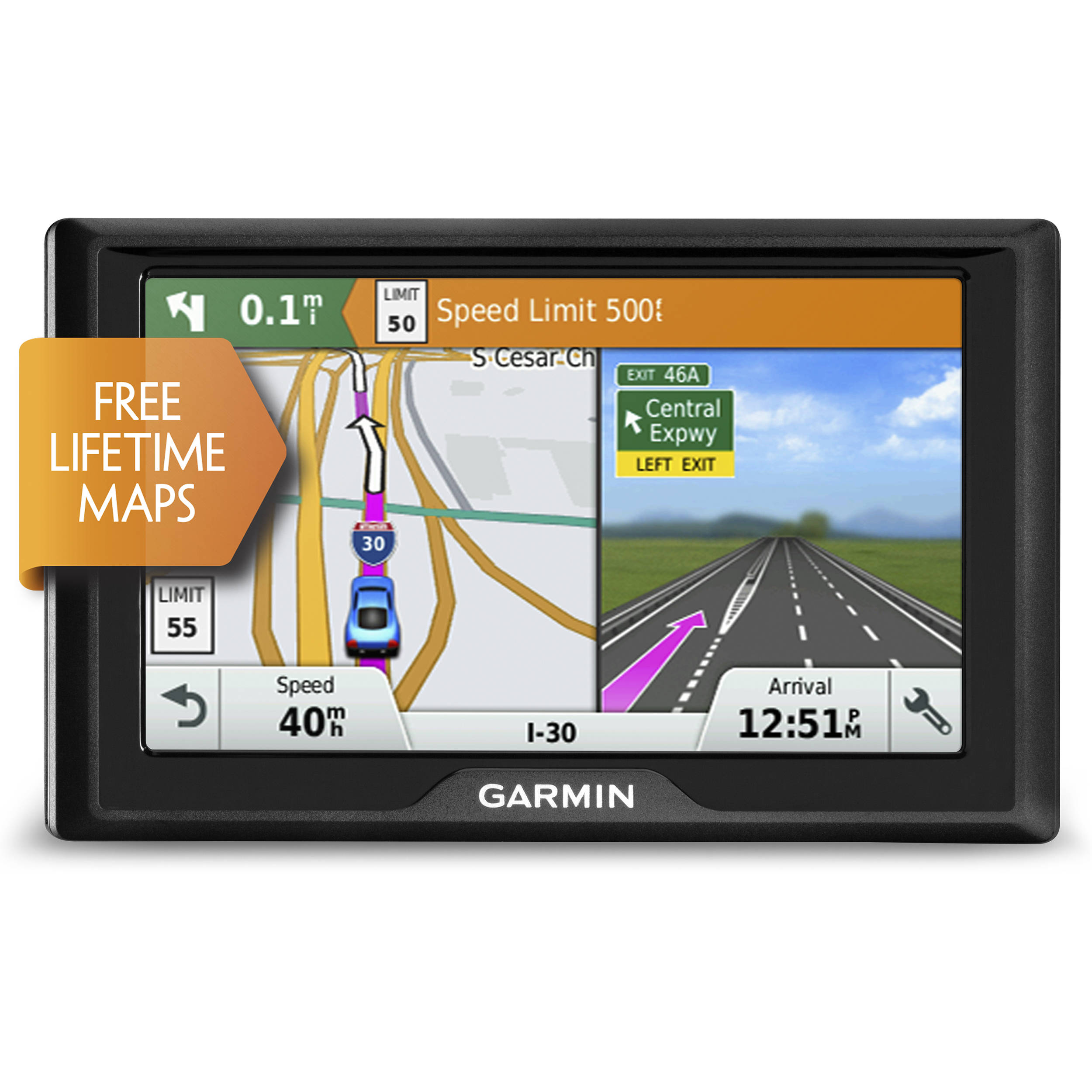 garmin drive 50 lm navigation system 010 01532 0c b h photo. Black Bedroom Furniture Sets. Home Design Ideas