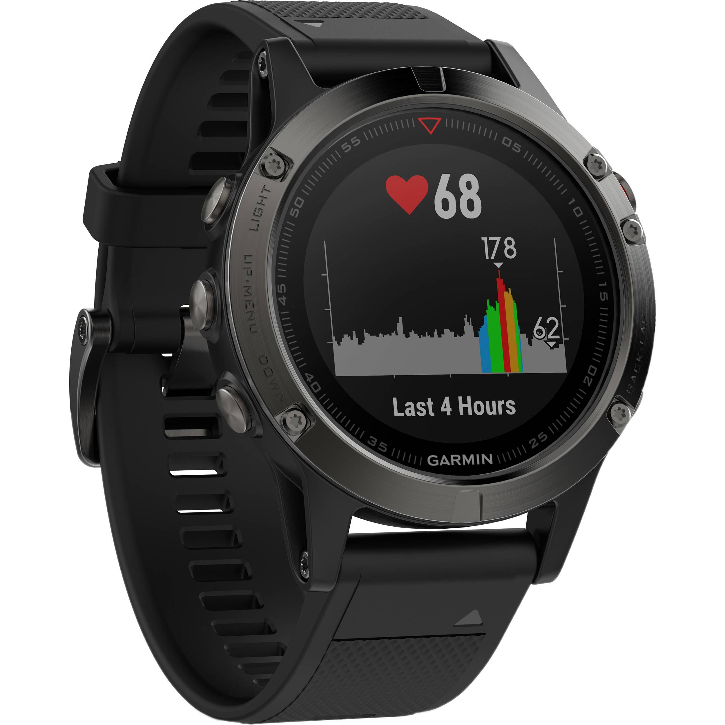 Sports Training Watches Bh Photo Video 84 S10 Fuse Box Garmin Fenix 5 Sapphire Edition Multi Sport Gps Watch Black Band