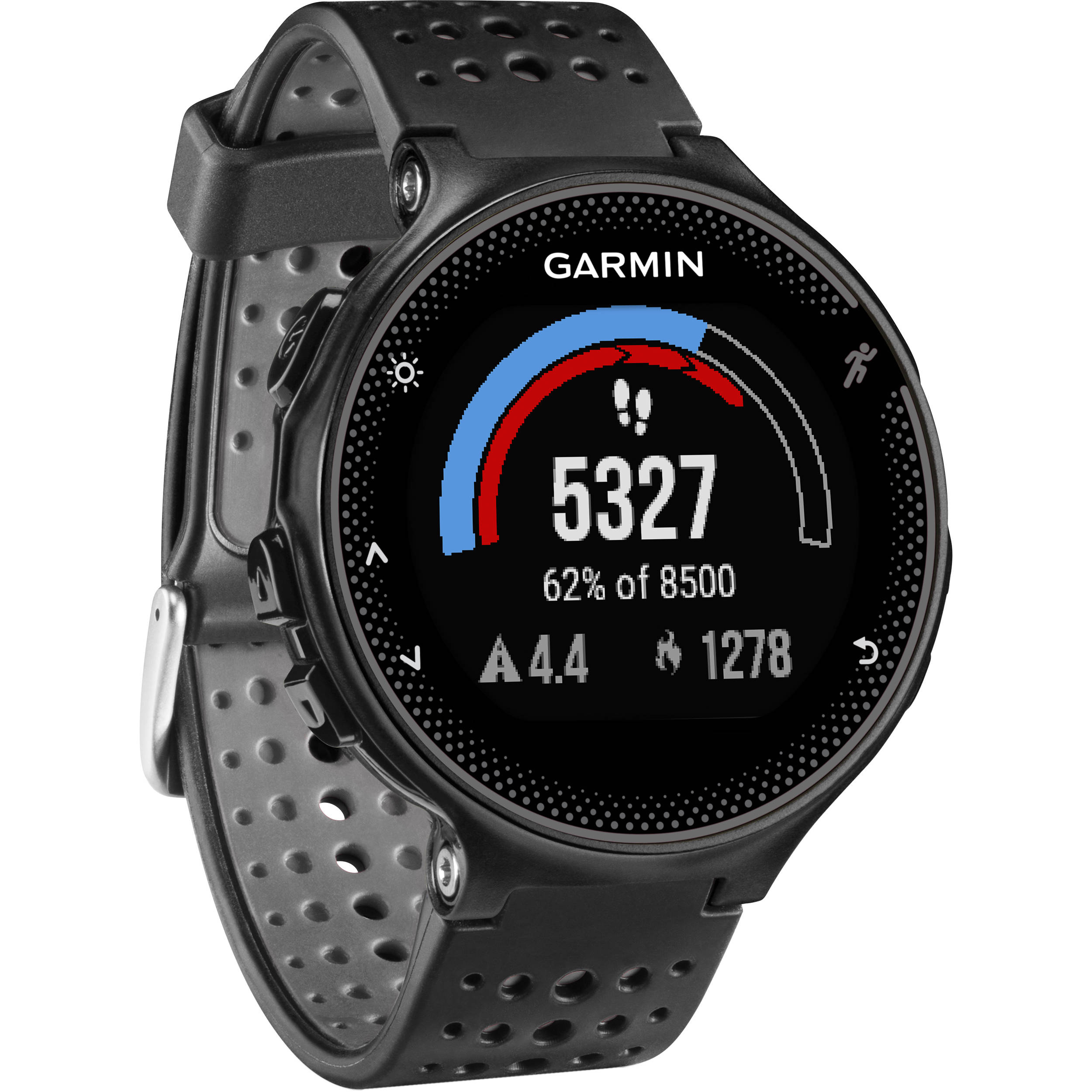 watch h reg c based gps gray rate forerunner product watches running and with garmin wrist photo black heart b