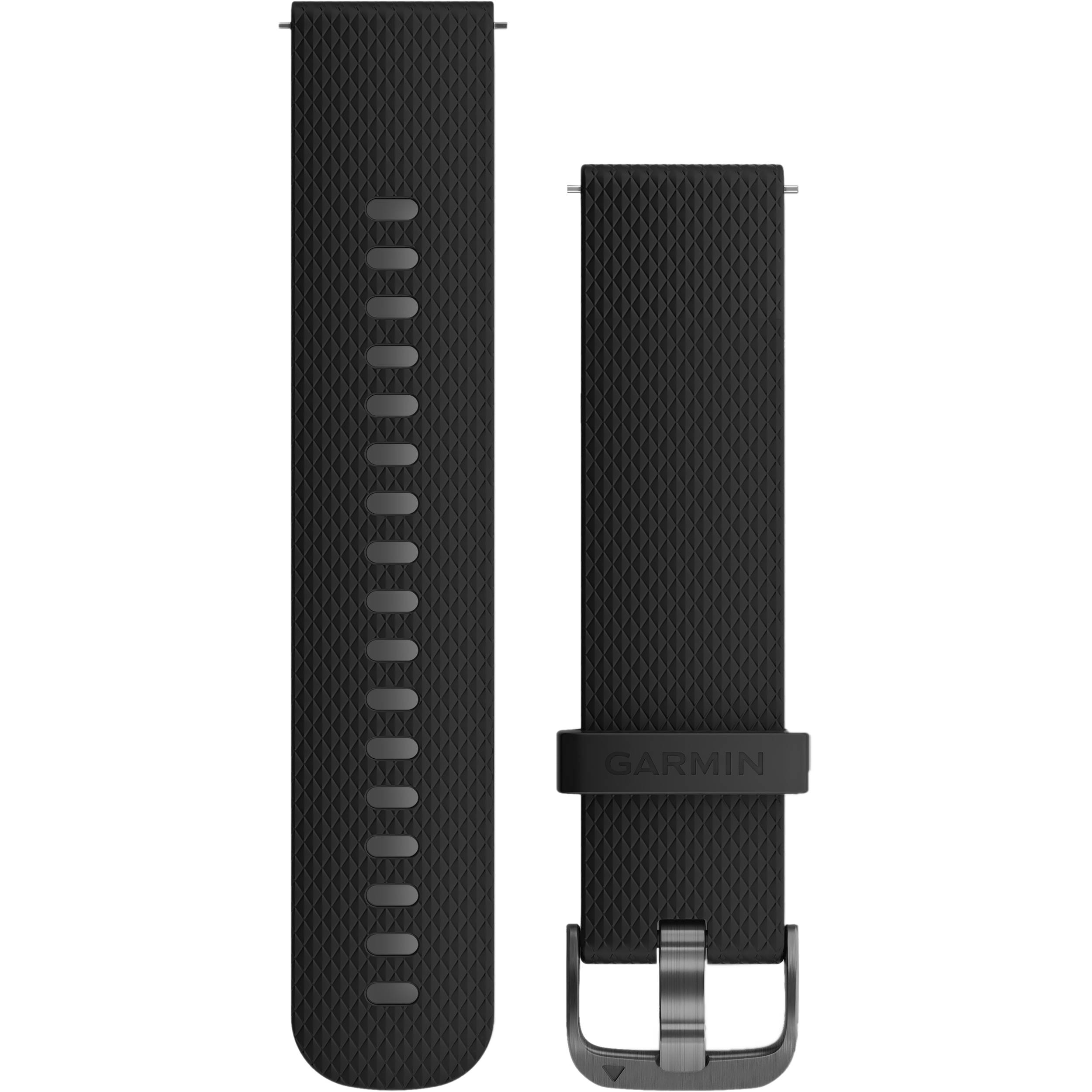 Garmin Quick Release Silicone Watch Band (20mm / Black / One Size)