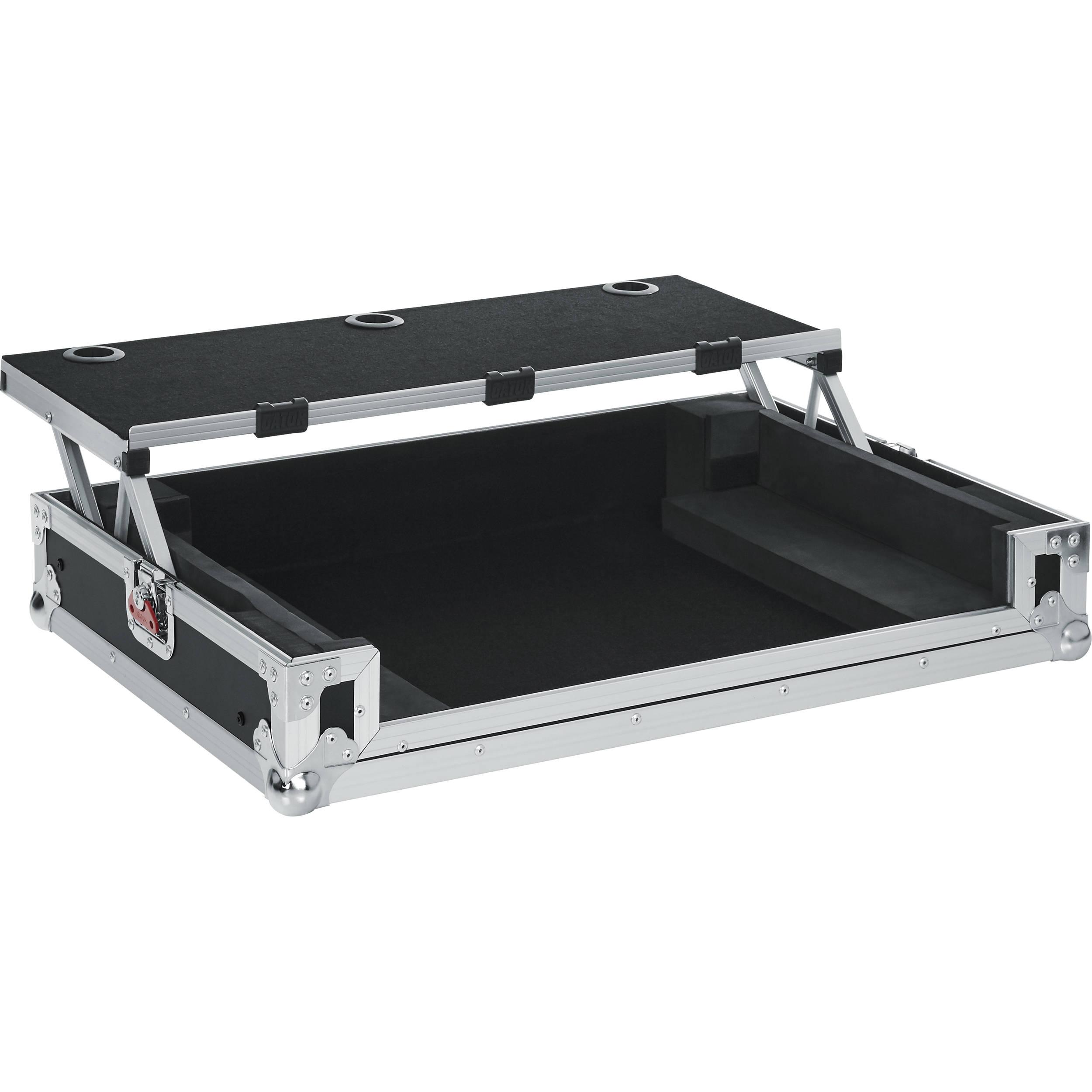 gator cases g tour road case with sliding laptop g tourdspdj808. Black Bedroom Furniture Sets. Home Design Ideas