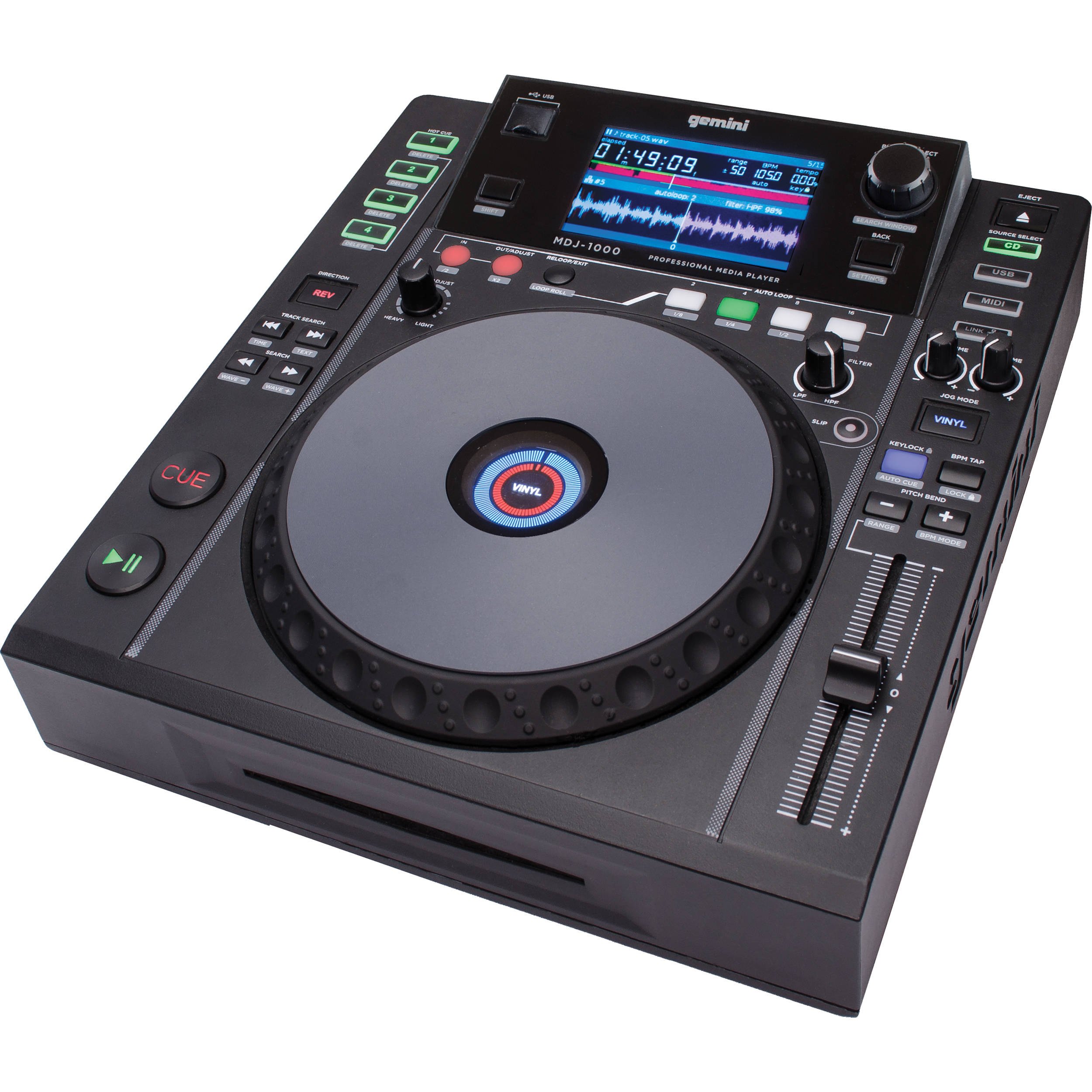 Gemini MDJ-1000 Professional CD/Media Player