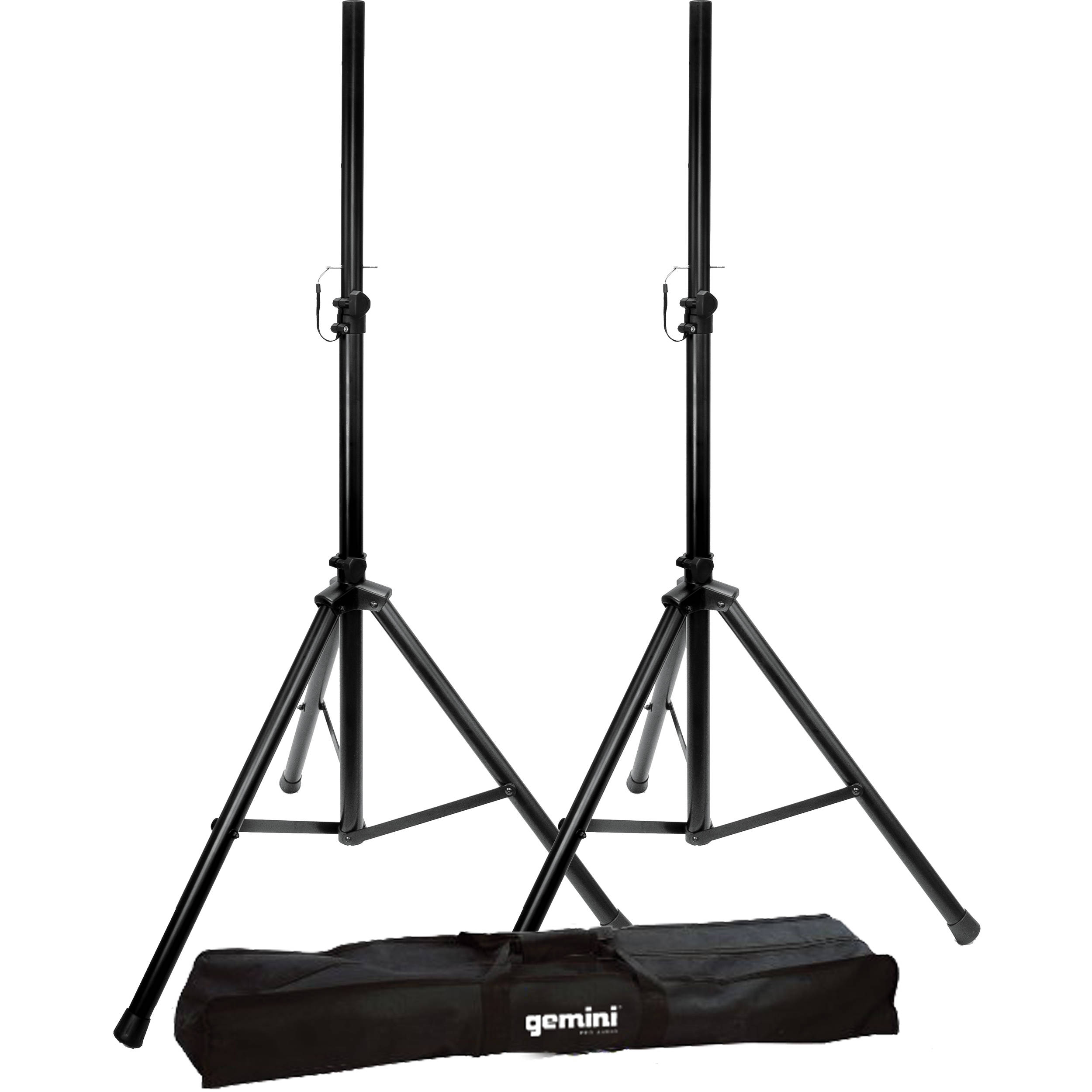 gemini st04 speaker stands with bag pair st pack b h photo