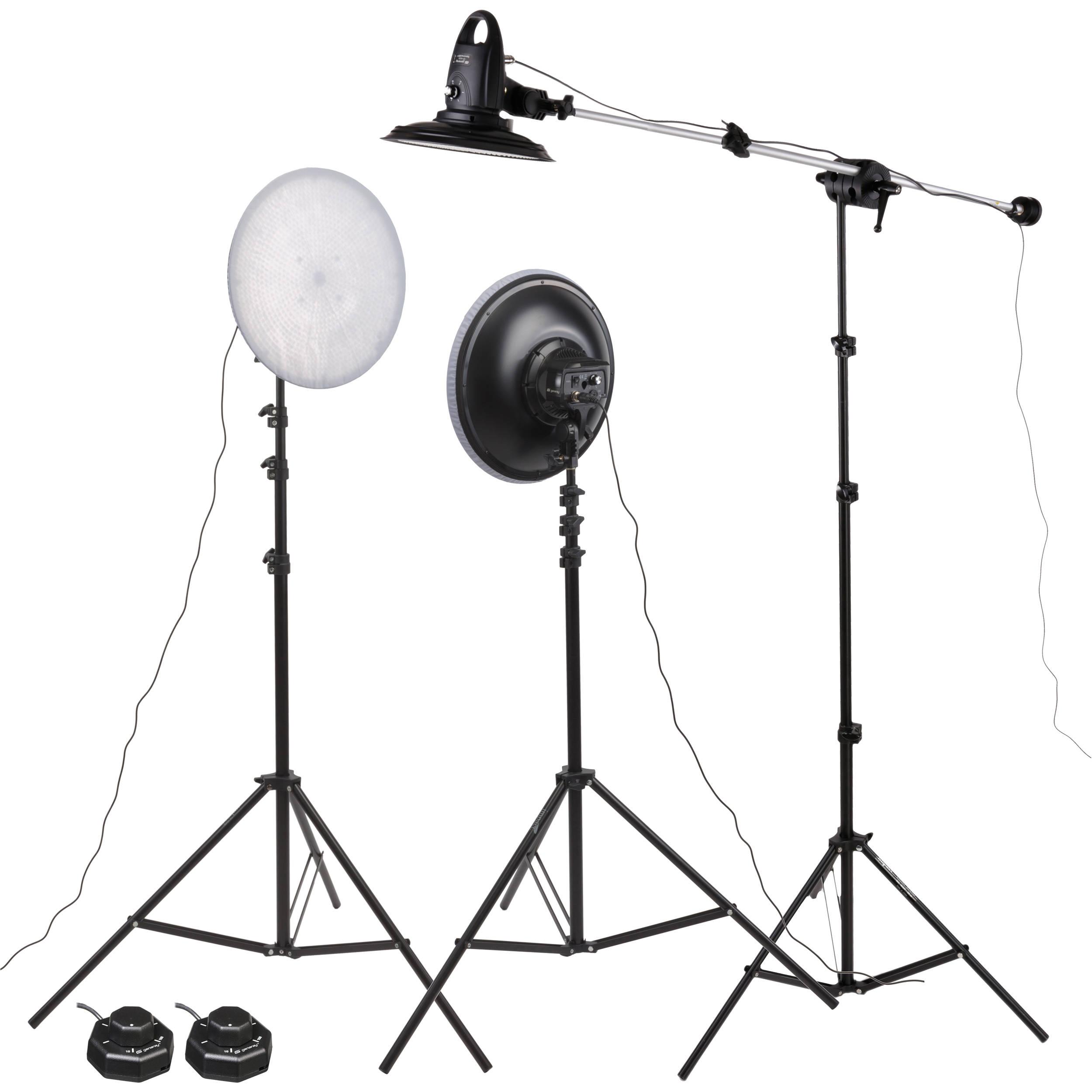 Genaray Spectroled 14 Three Light Kit Sp Ad75 3kii Bh Photo How To Build 120 Vac Lamp Dimmer 12 Vdc
