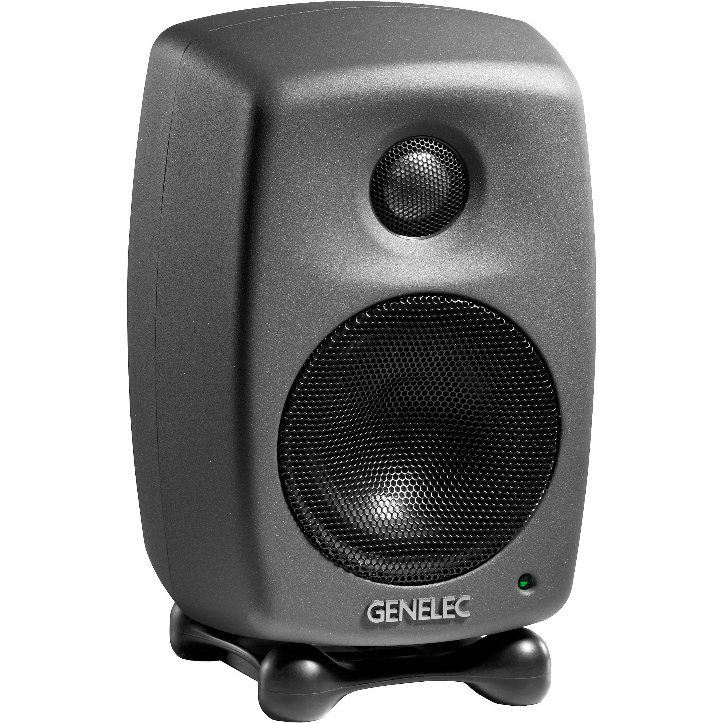 genelec 8010 bi amplified active monitor black single 8010apm. Black Bedroom Furniture Sets. Home Design Ideas