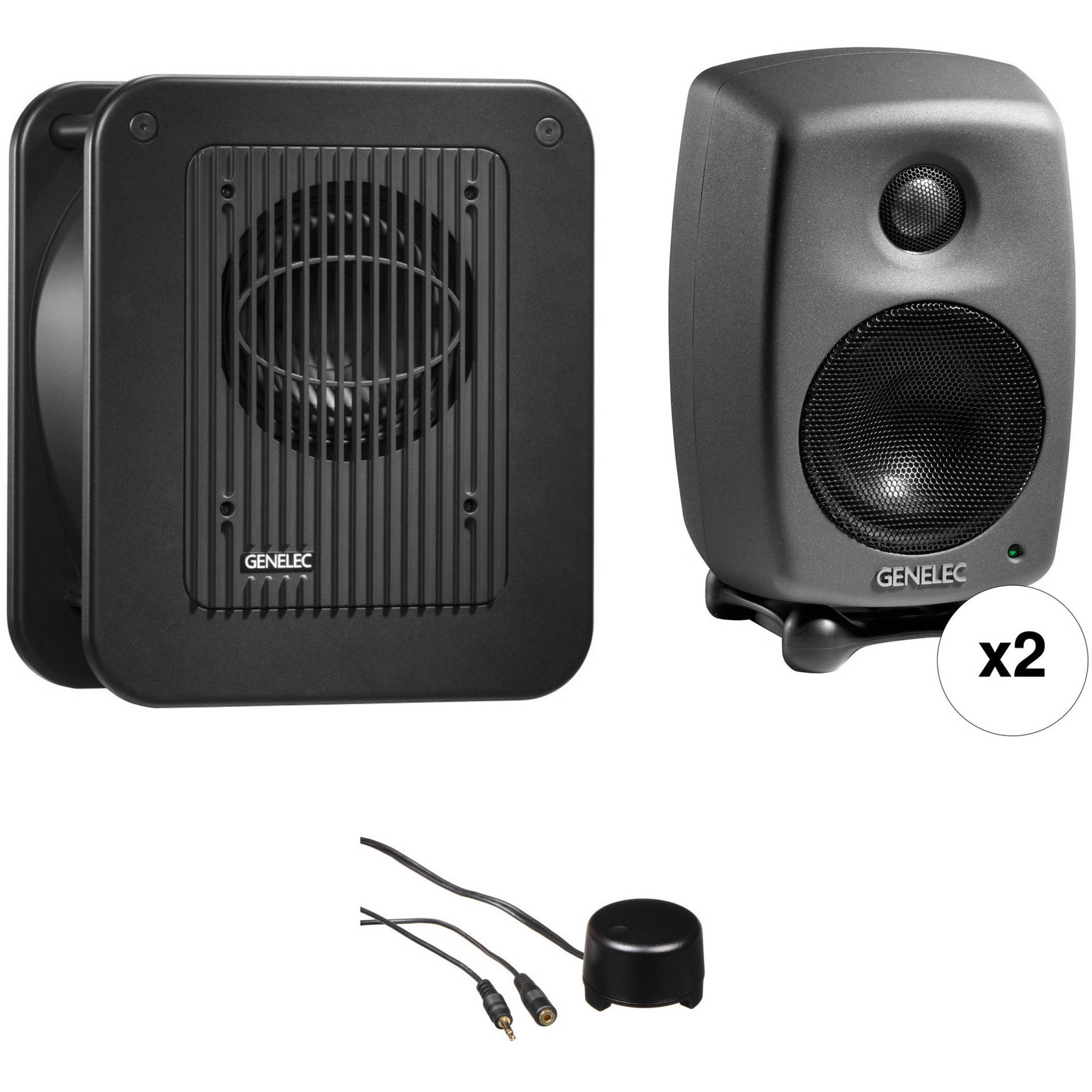 genelec 8010 studio monitor kit with 7040 subwoofer and stereo. Black Bedroom Furniture Sets. Home Design Ideas