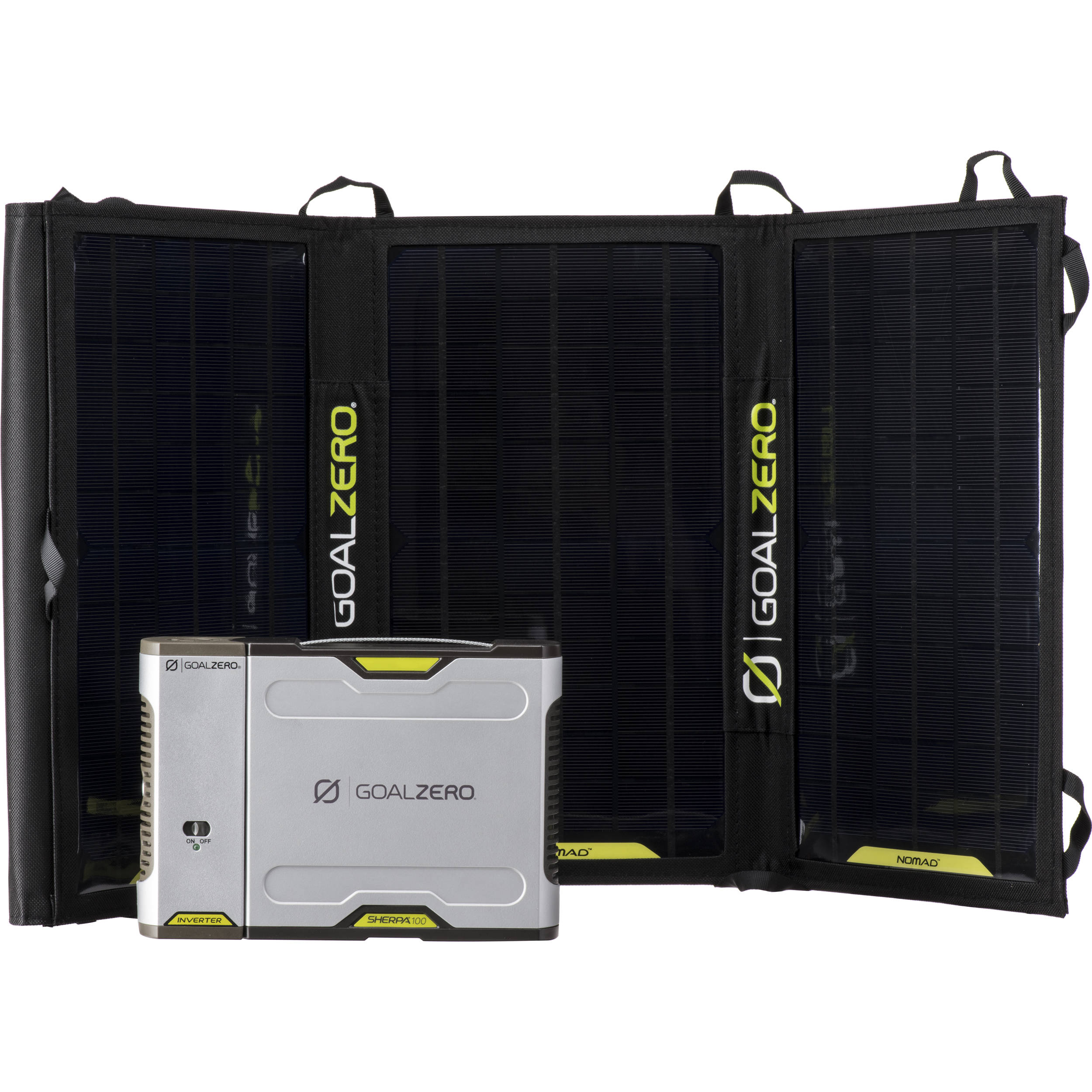 Goal Zero Sherpa 100 Solar Charging Kit With 110vac 42011 Bh Battery Via The Mini Usb Port On Circuit Or Inverter