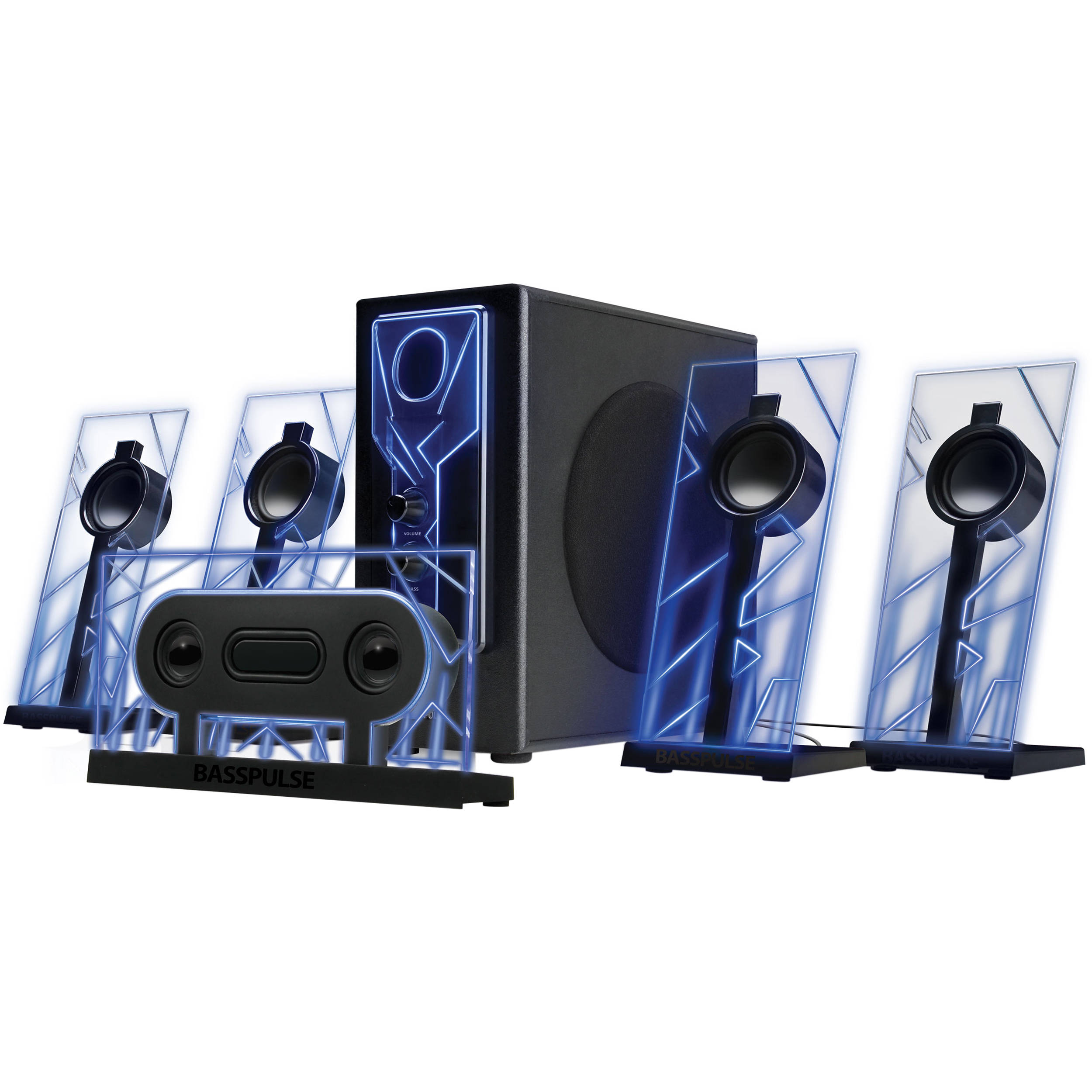 gogroove basspulse 5 1 surround sound speaker. Black Bedroom Furniture Sets. Home Design Ideas