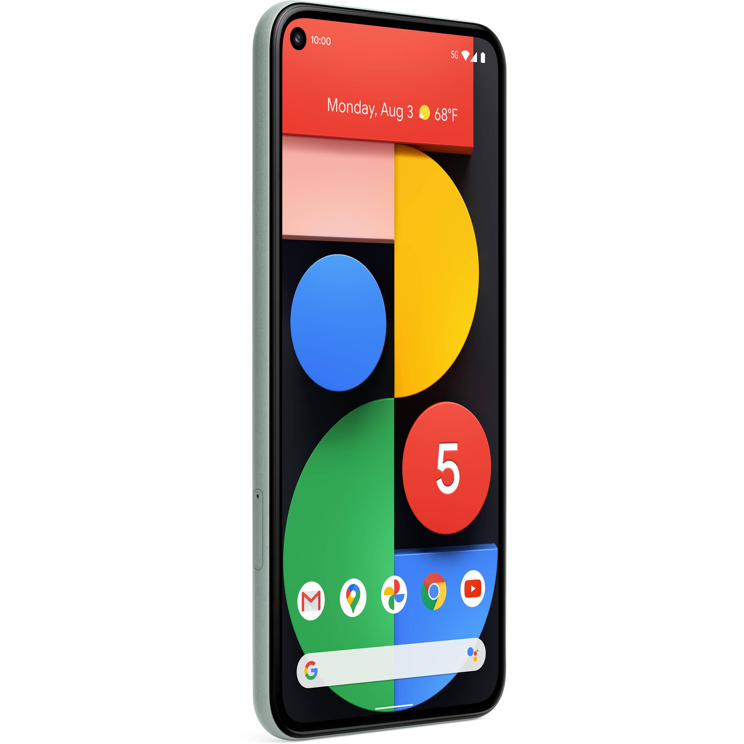 Google Pixel 5 128GB 5G Smartphone (Unlocked, Sorta Sage)